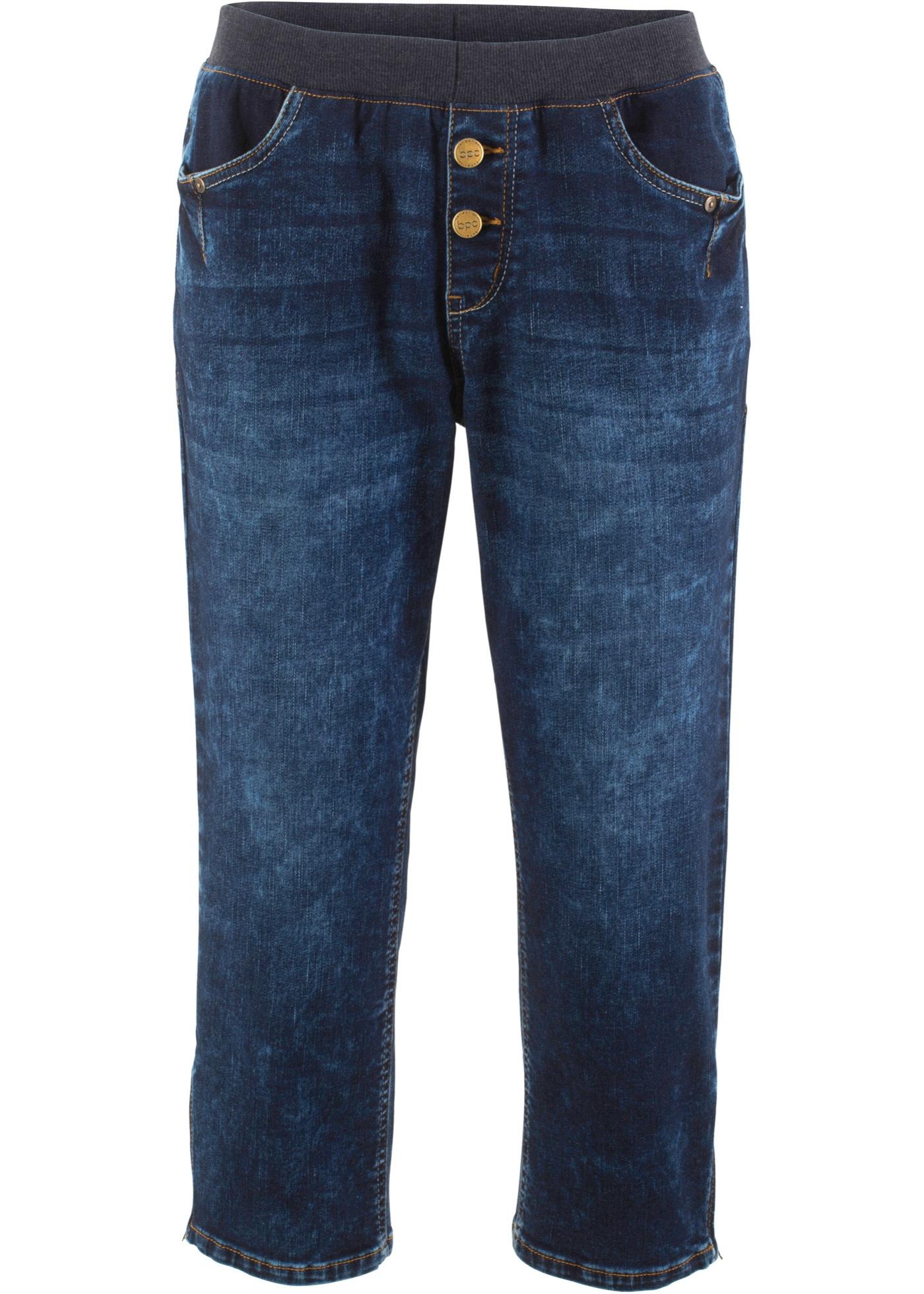 Stretch-Jeans mit Bequembund in 3/4-Länge