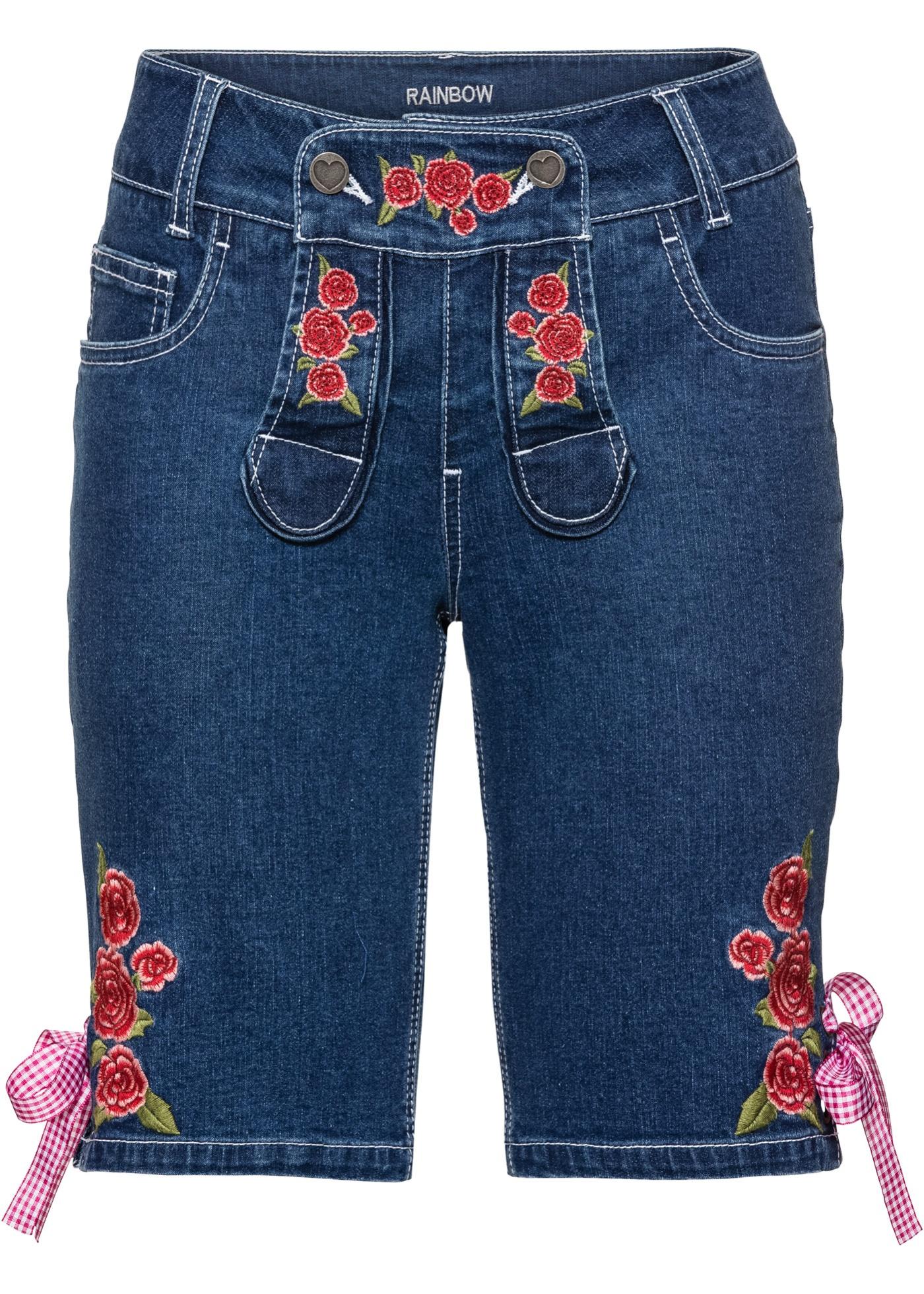 Trachten-Shorts in blau für Damen von bonprix