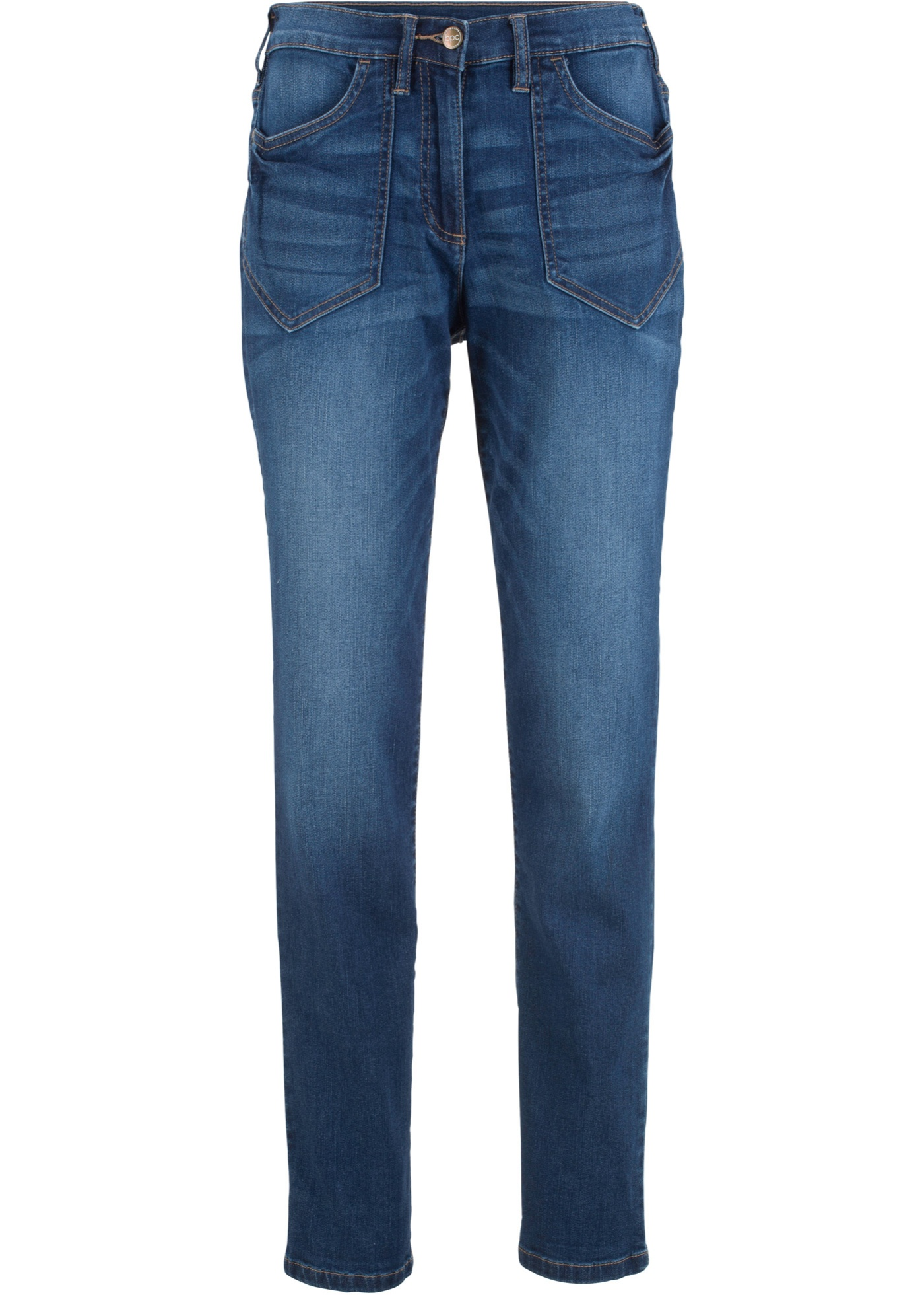 Hoch Geschnittene Stretch-jeans