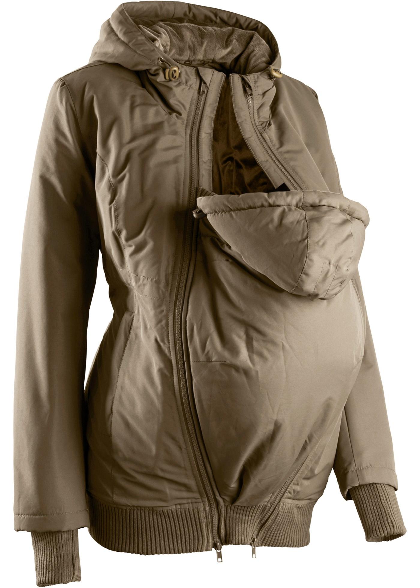 Tragejacke/ Winter-Umstandsjacke langarm  in grün für Damen von bonprix