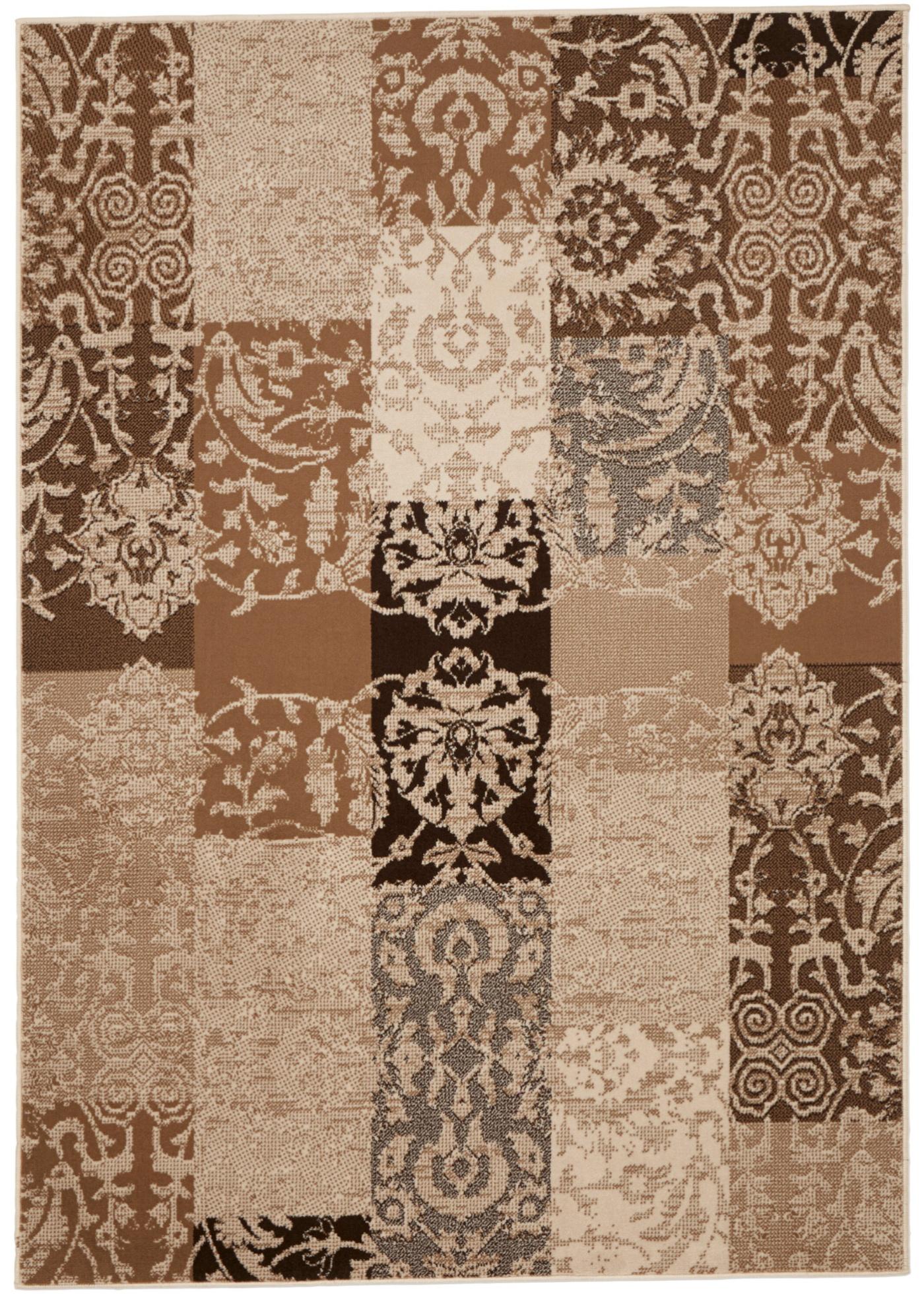 Teppich in Patchworkoptik in braun von bonprix