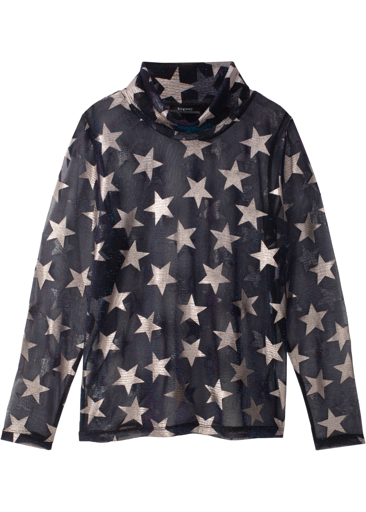 Mädchen,  Kinder bonprix Transparente Bluse mit Sternendruck blau   06940487602929