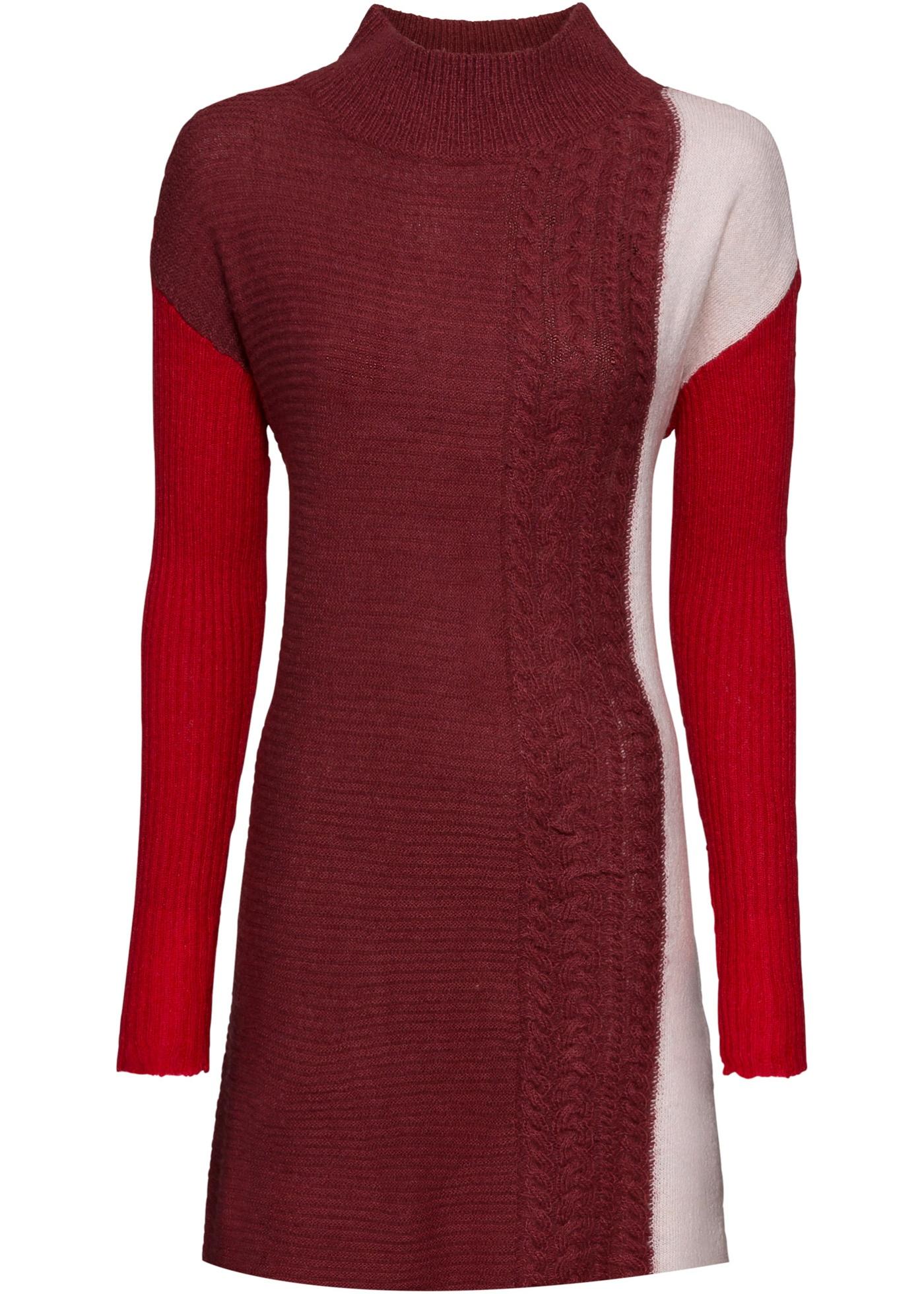 Strickpullover langarm  in rot für Damen von bonprix