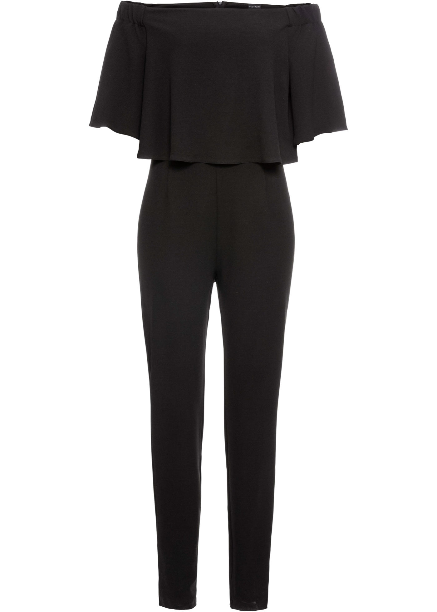 Hosen - Jumpsuit mit Carmen Ausschnitt › bonprix › schwarz  - Onlineshop Bonprix