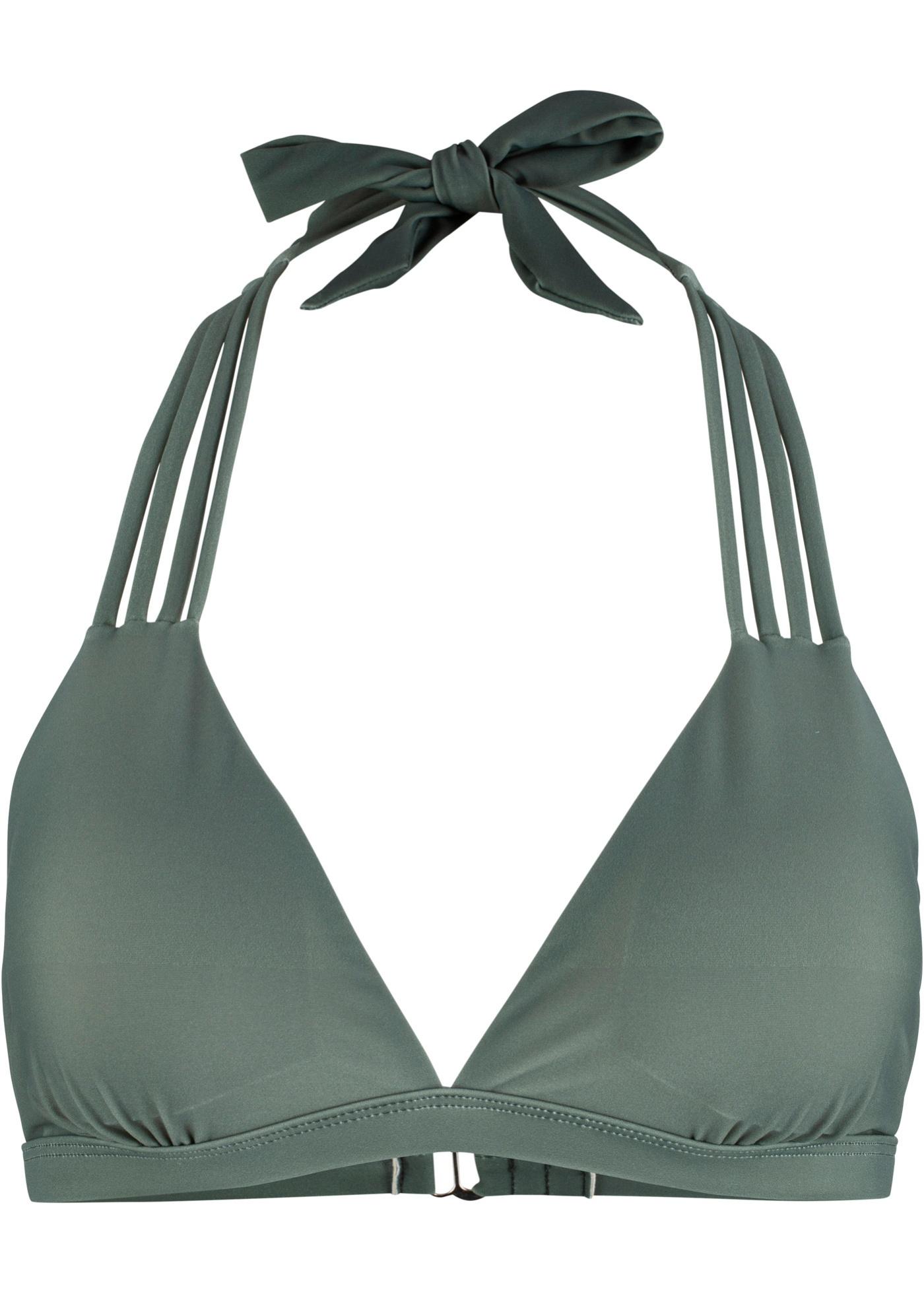 Triangel Bikini Oberteil in grün für Damen von bonprix