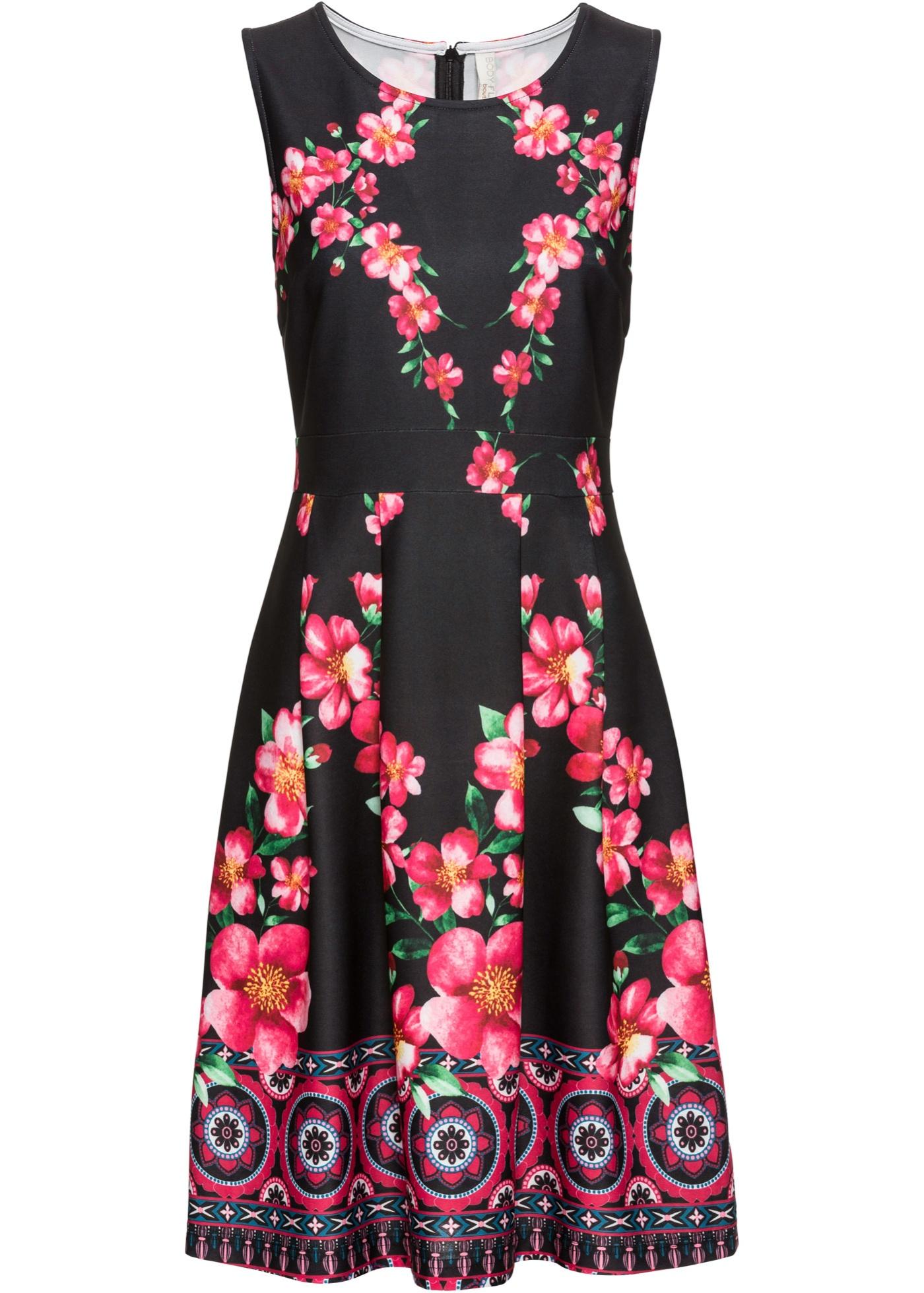 Sommer-Kleid ohne Ärmel  in schwarz für Damen von bonprix