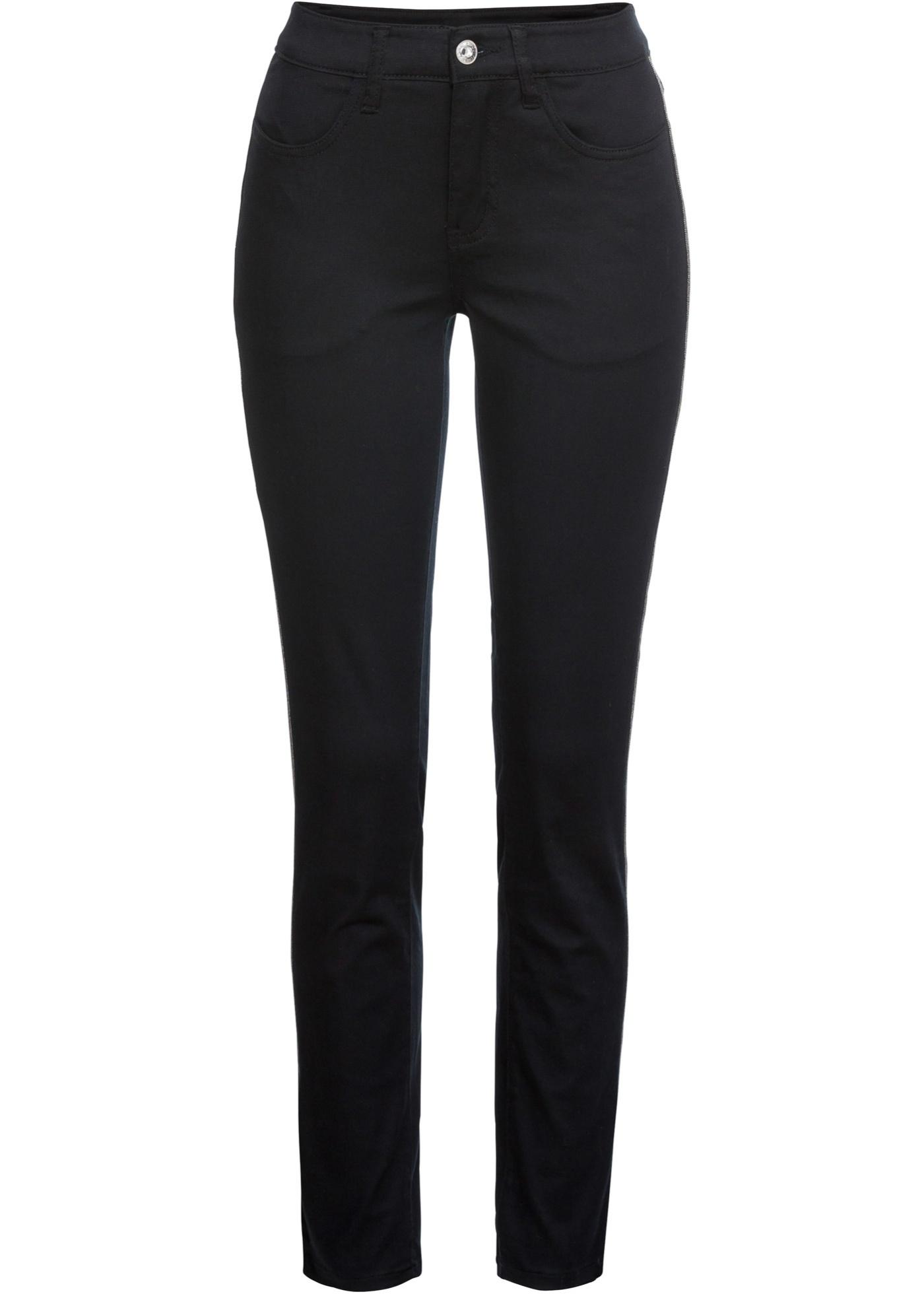 Stretch-Hose in schwarz für Damen von bonprix