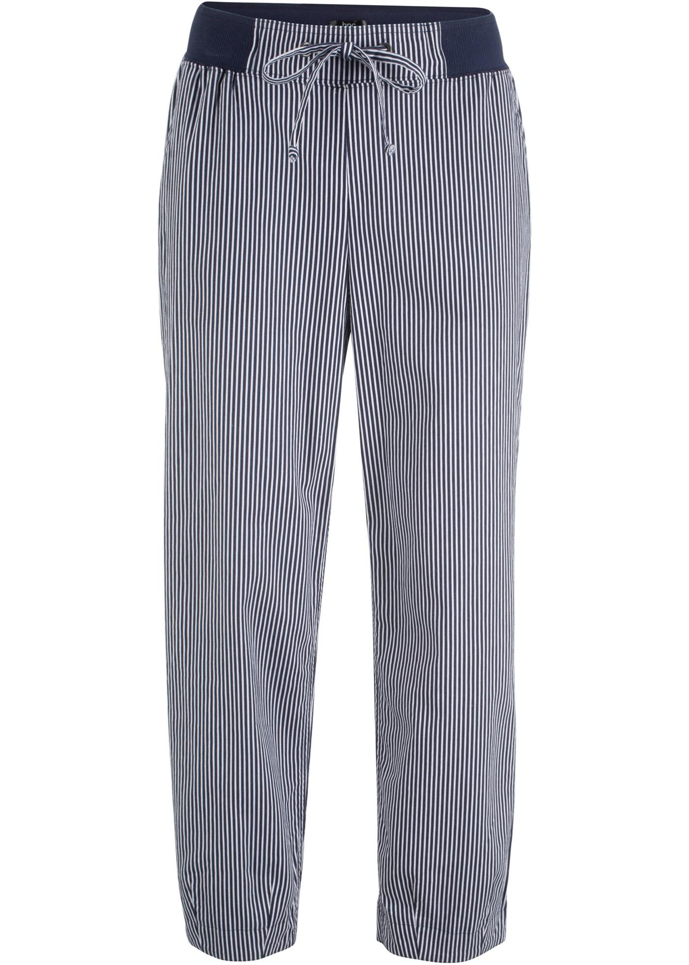Hosen - Hose aus Leinenmix in 7 8 Länge › bonprix › blau  - Onlineshop Bonprix