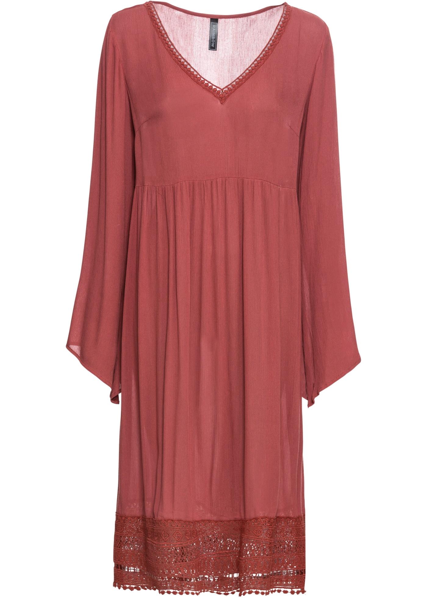 Midi-Kleid mit Spitze
