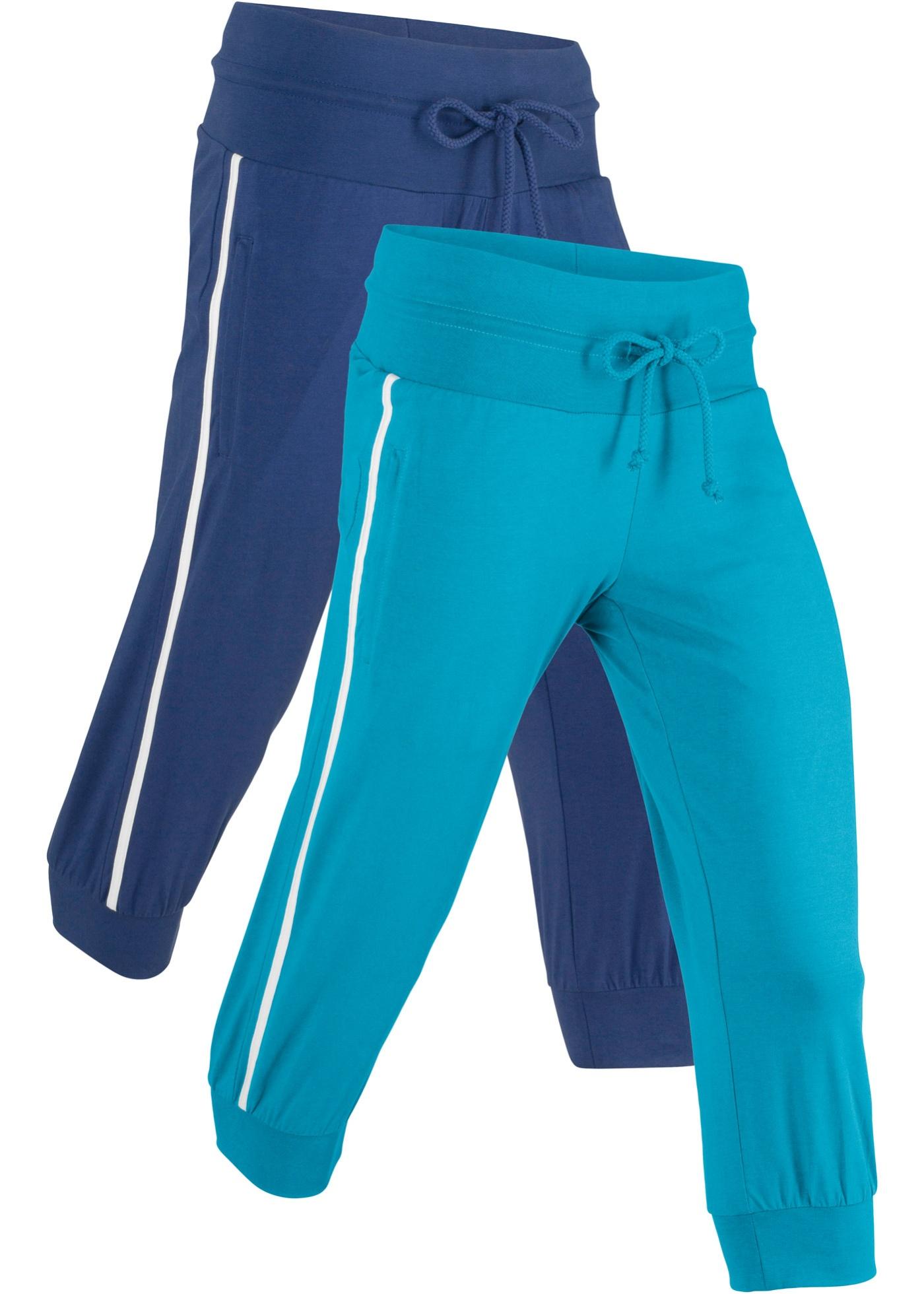 Hosen - Stretch Sport Knickerbocker (2er Pack), 3 4 Länge, Level 1 › bonprix › blau  - Onlineshop Bonprix