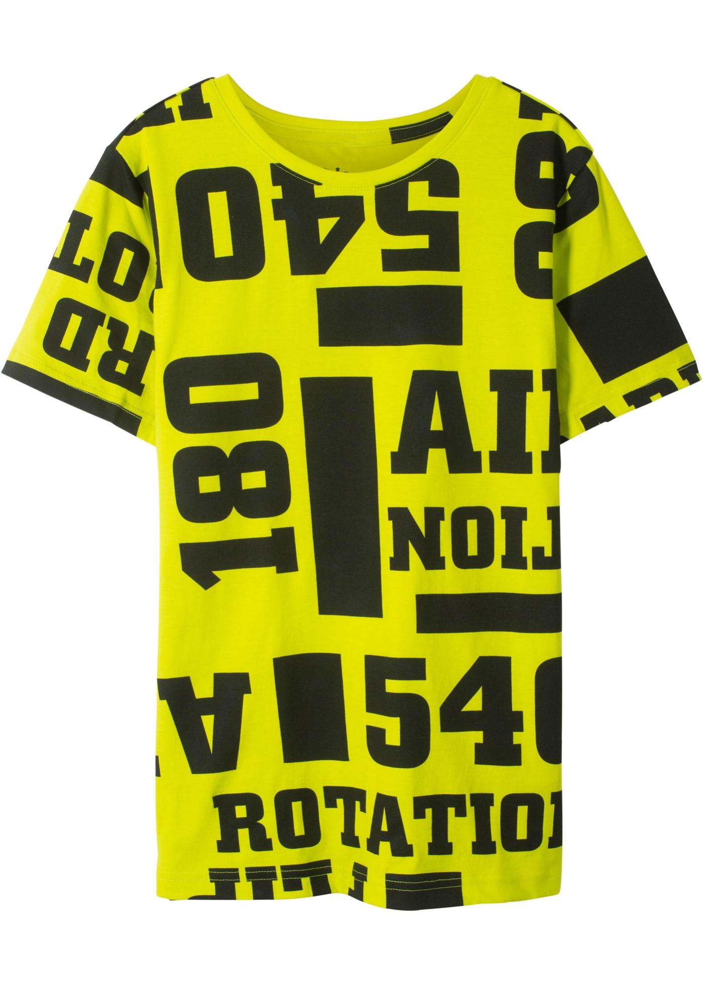 T-Shirt bedruckt kurzer Arm  in grün für Jungen von bonprix