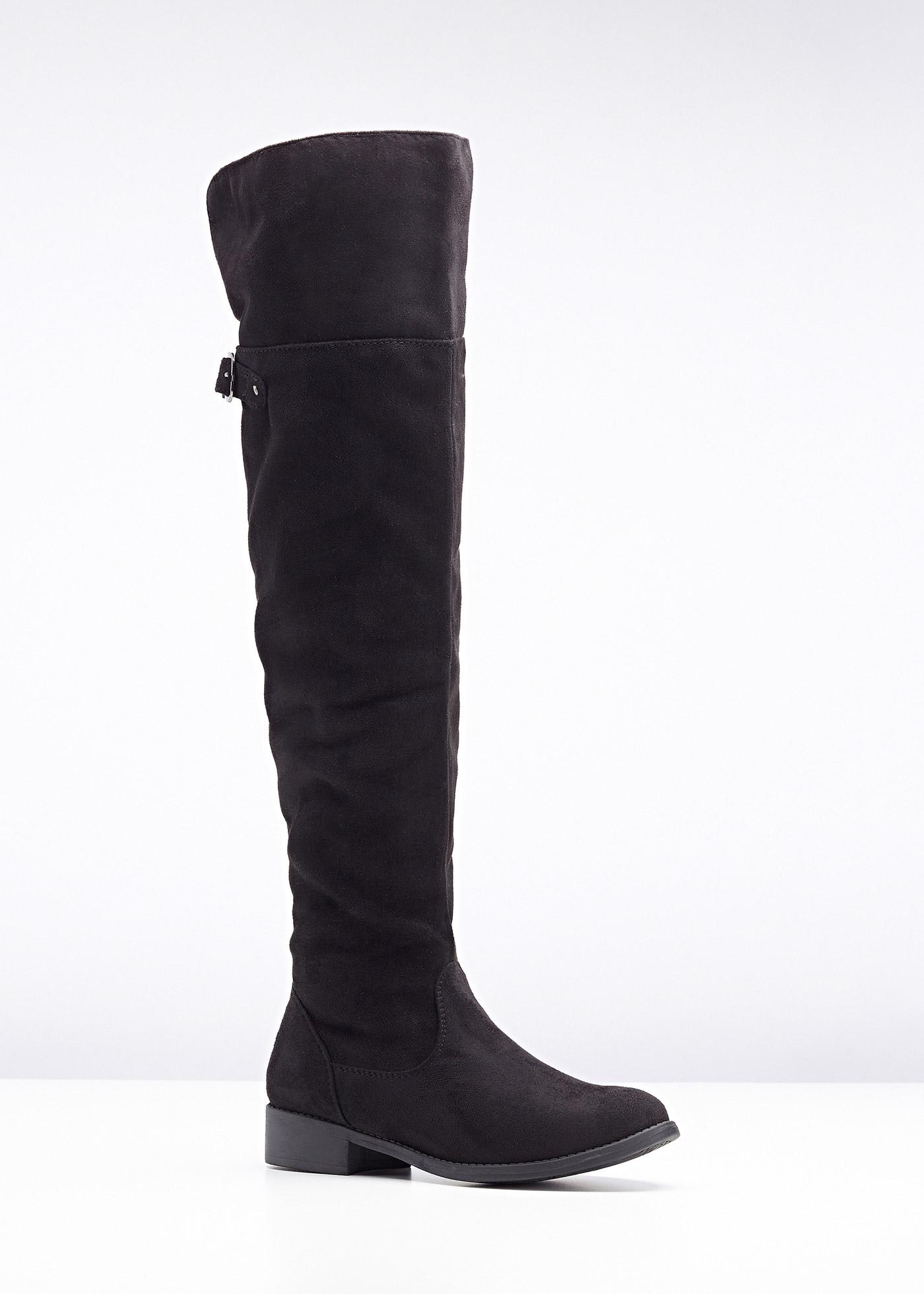 buy online c37b2 00b76 Stylische Overknee Stiefel für breite Waden bei Wundercurves