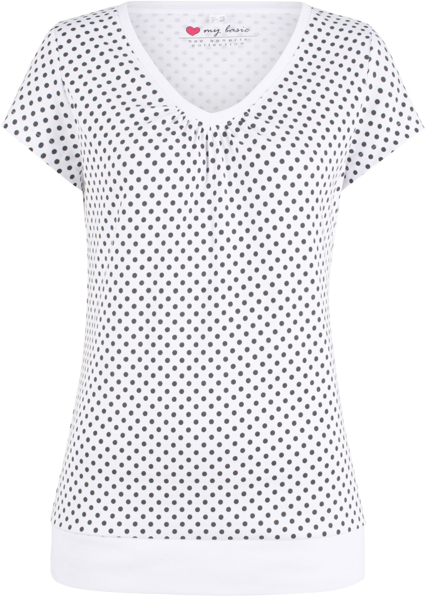 Gepunktetes Kurzarm-Shirt