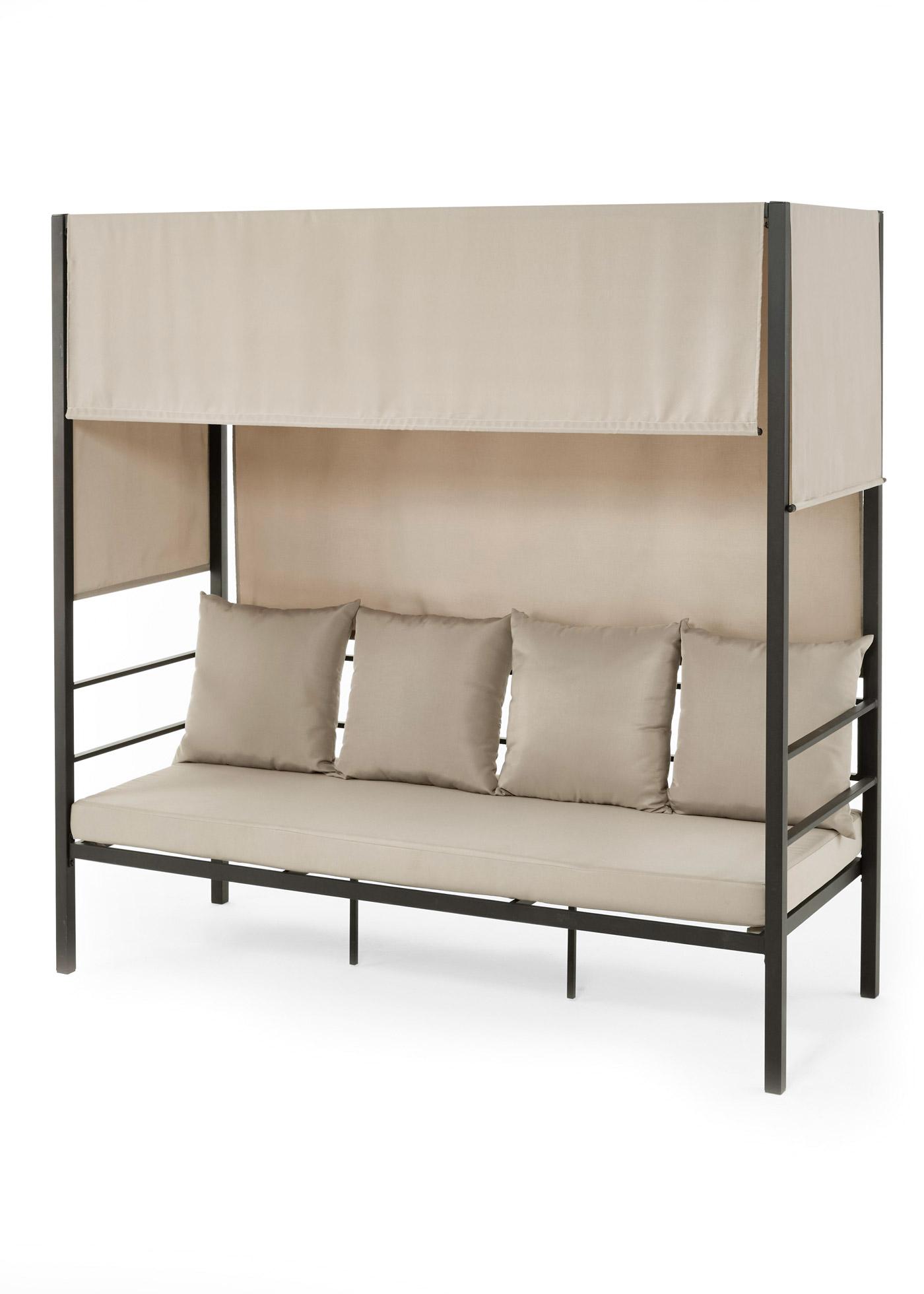 """*NEU*: Lounge-Sofa/Daybed """"Ruben"""" aus Stahl, schwarz/grau"""