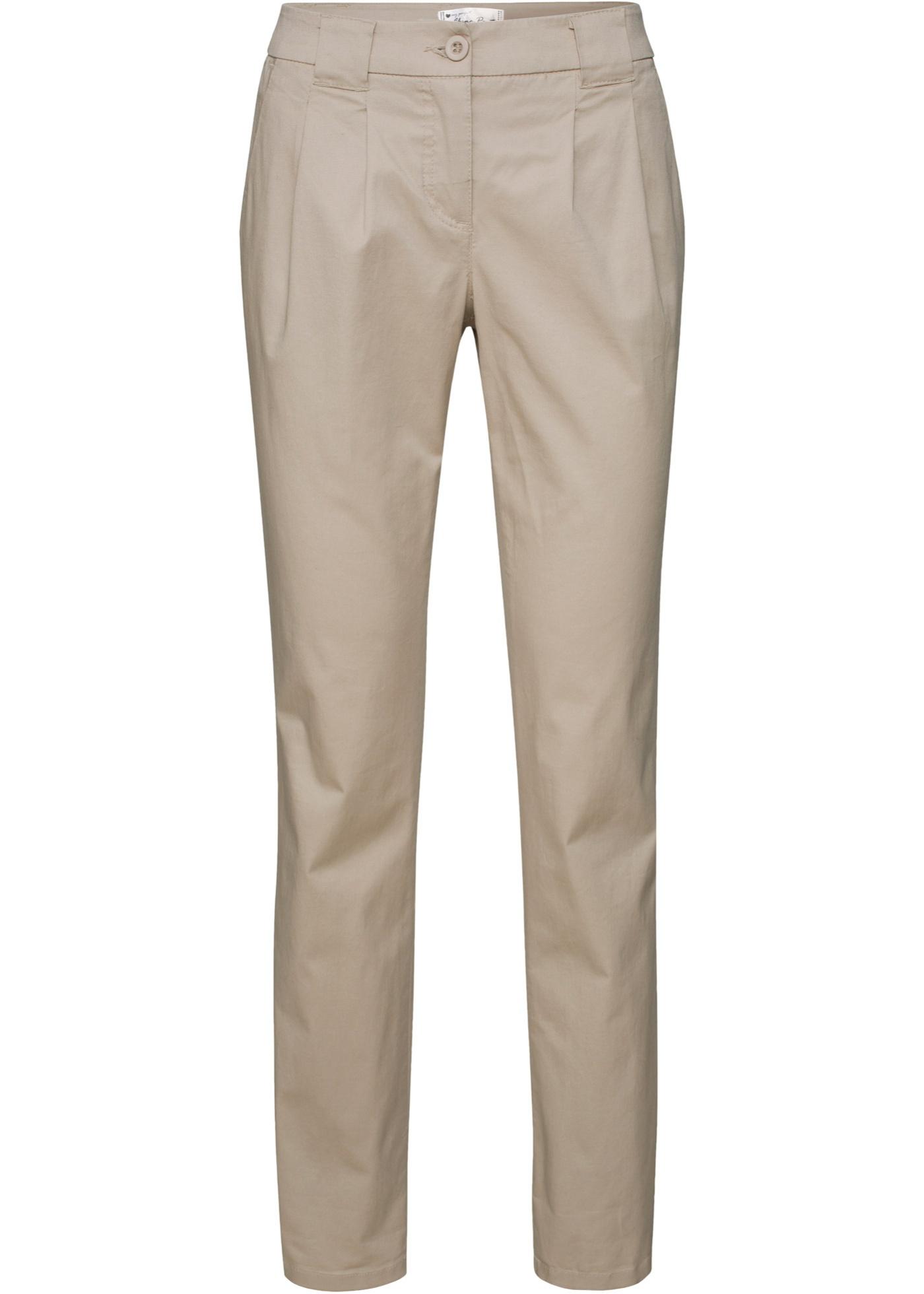 Hosen - Stretch Chinohose › bonprix › beige  - Onlineshop Bonprix
