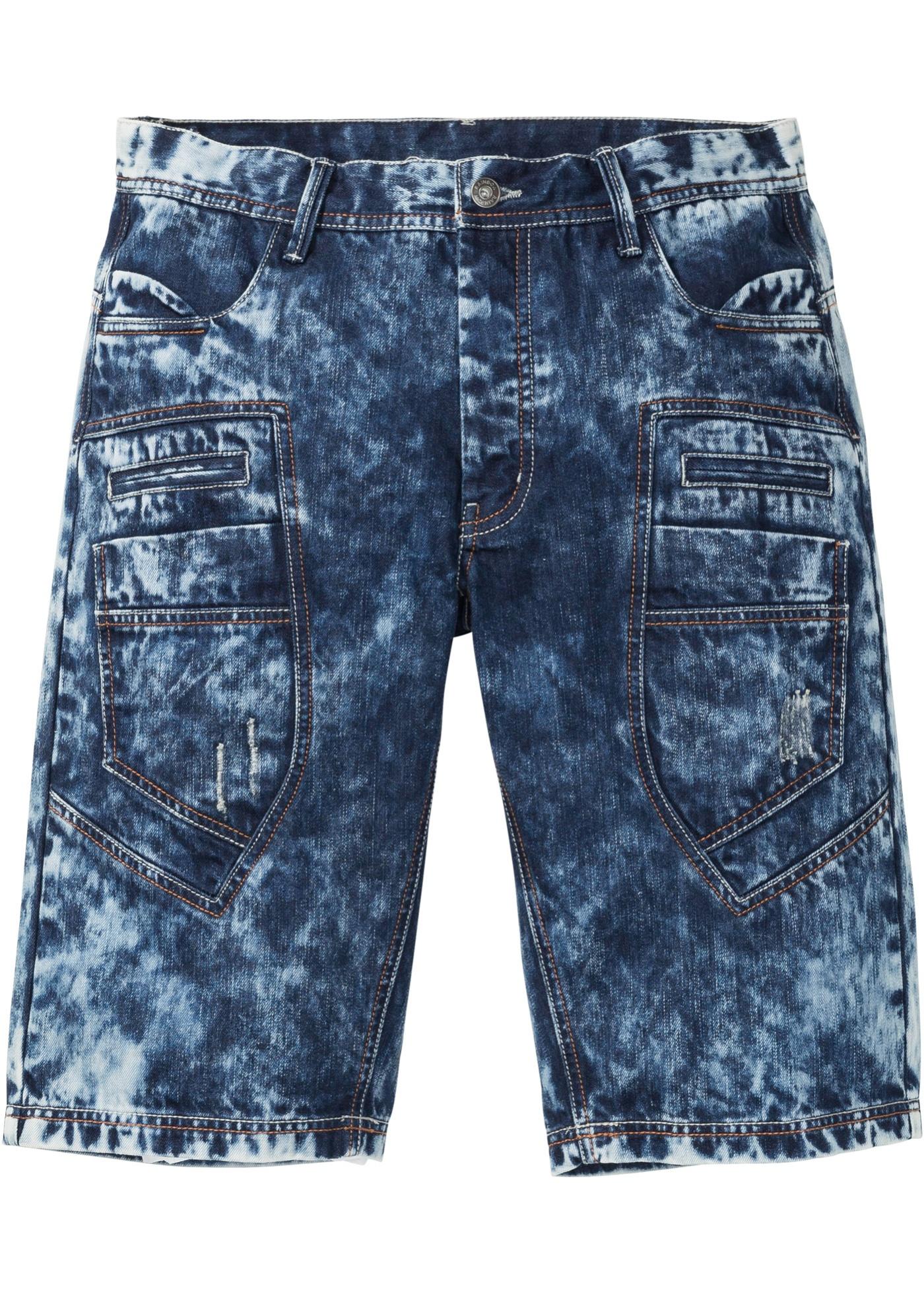 Jeans-Bermuda, Loose Fit in blau für Herren von bonprix