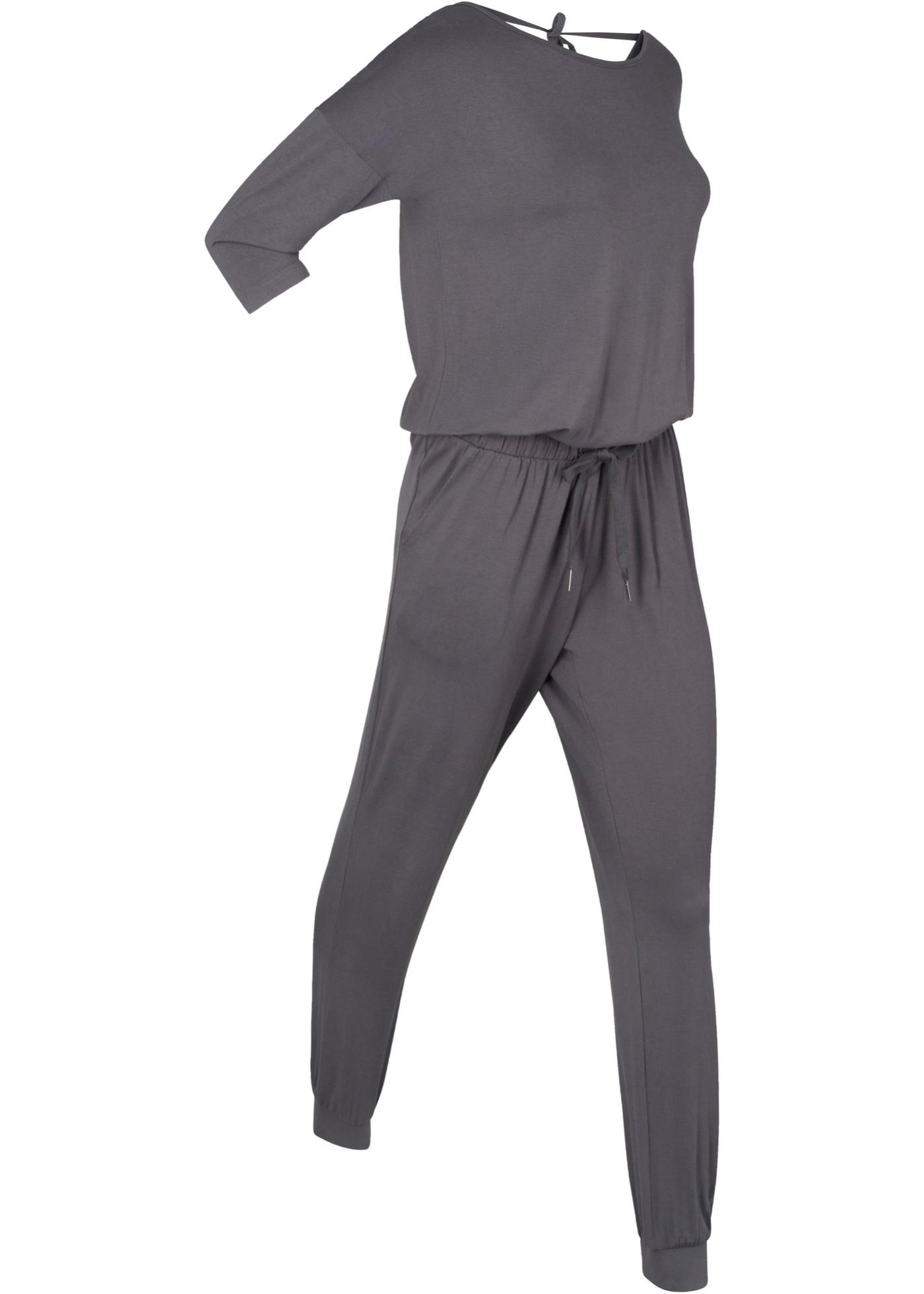 427aab9e74aa5d bpc bonprix collection Jumpsuit, lang, designt von Maite Kelly kurzer Arm  in grau von bonprix