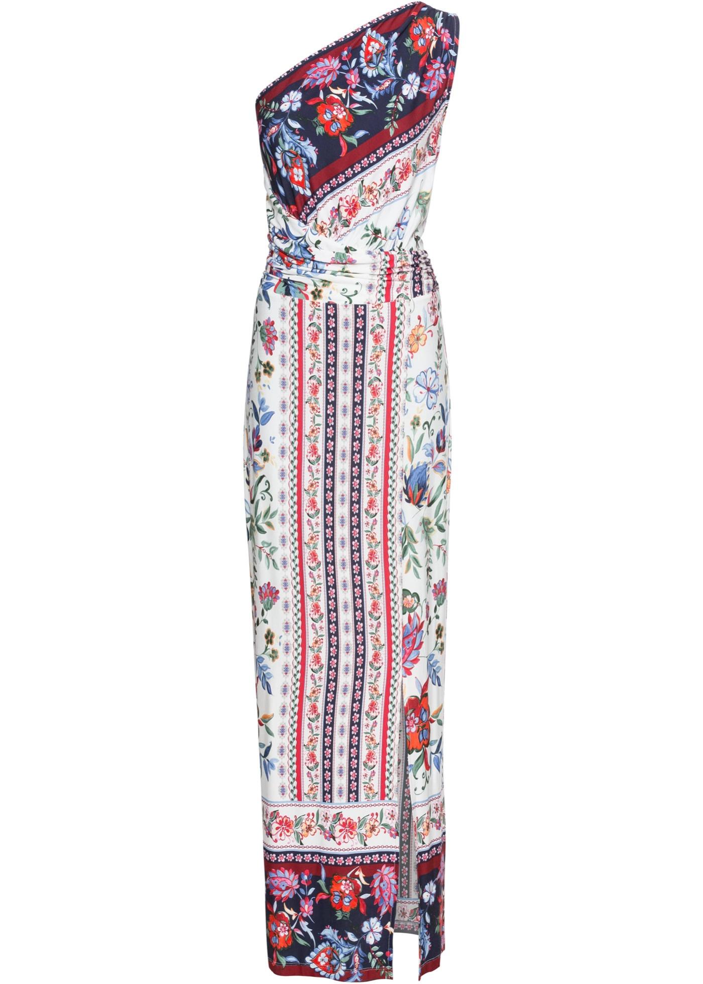 One-Shoulder-Kleid ohne Ärmel  in weiß für Damen von bonprix