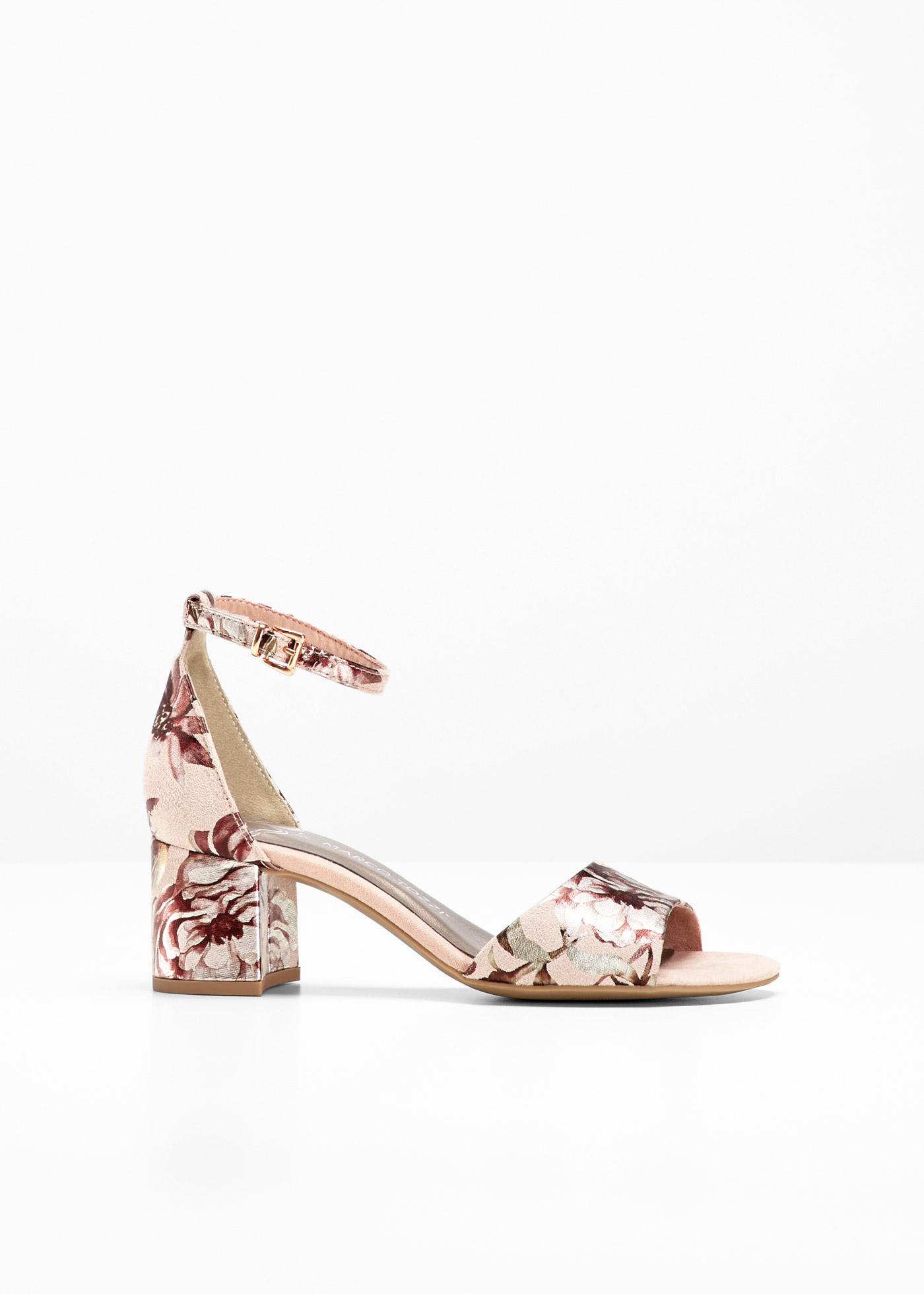 Sandalette von Marco Tozzi mit 5 cm Blockabsatz in rosa von bonprix