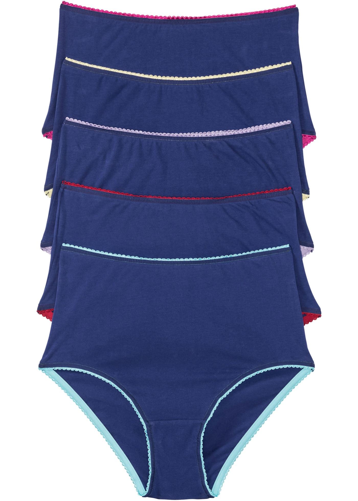 Taillenslip (5er-Pack) in blau für Damen von bonprix