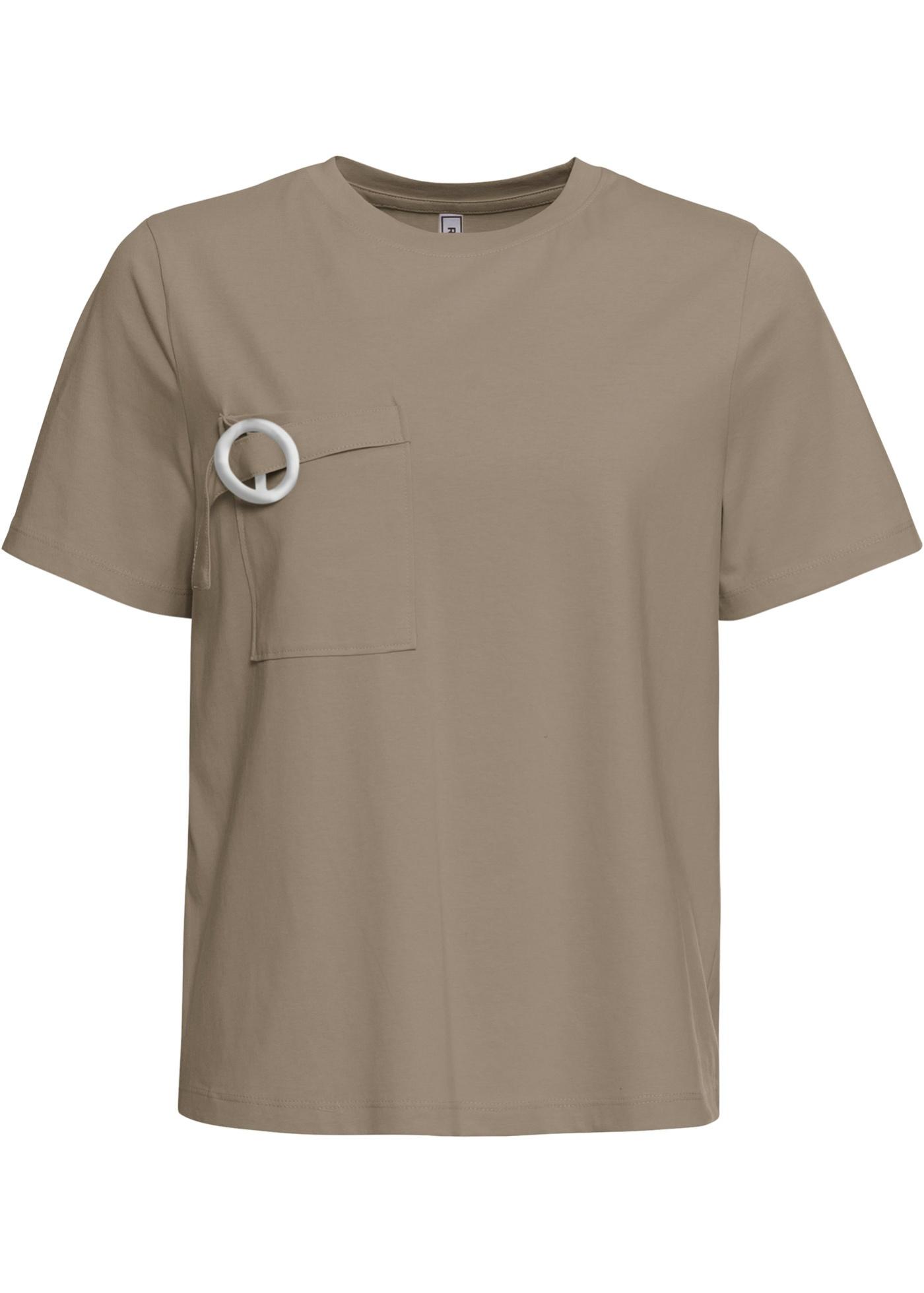 Shirt mit Tasche 3/4 Arm  in grün für Damen von bonprix
