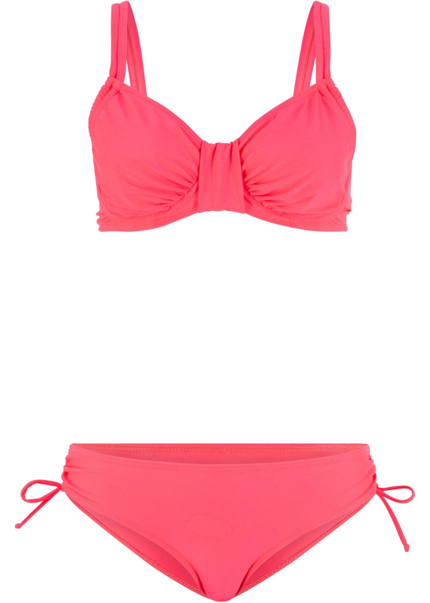Bügel Bikini (2-tlg. Set) in pink für Damen von bonprix