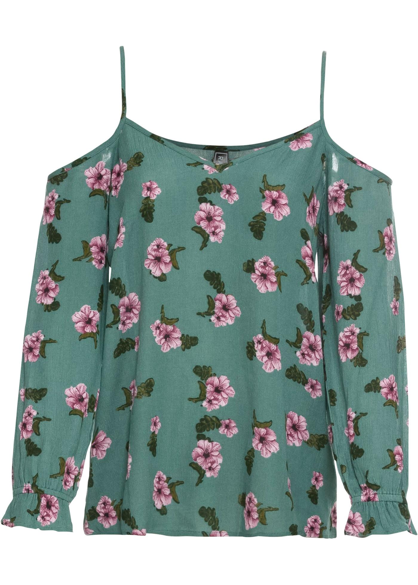 Crinkle-Bluse mit Blumenmuster