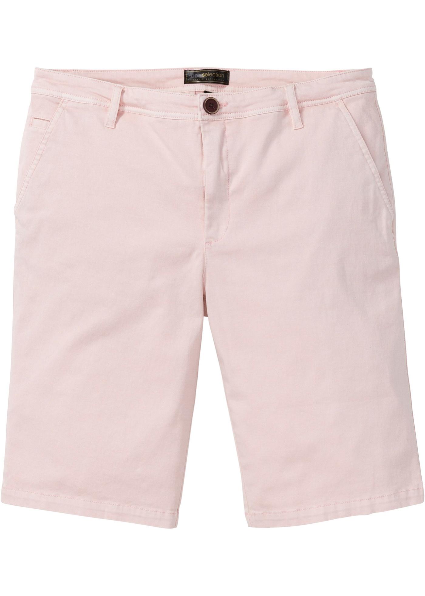 Chino-Bermuda Regular Fit in rosa für Herren von bonprix