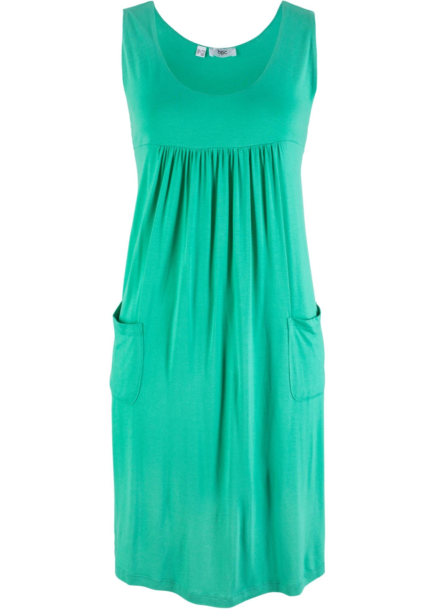 Jersey-Hängerchen mit Rundhals-Ausschnitt, unifarben ohne Ärmel  in grün für Damen von bonprix