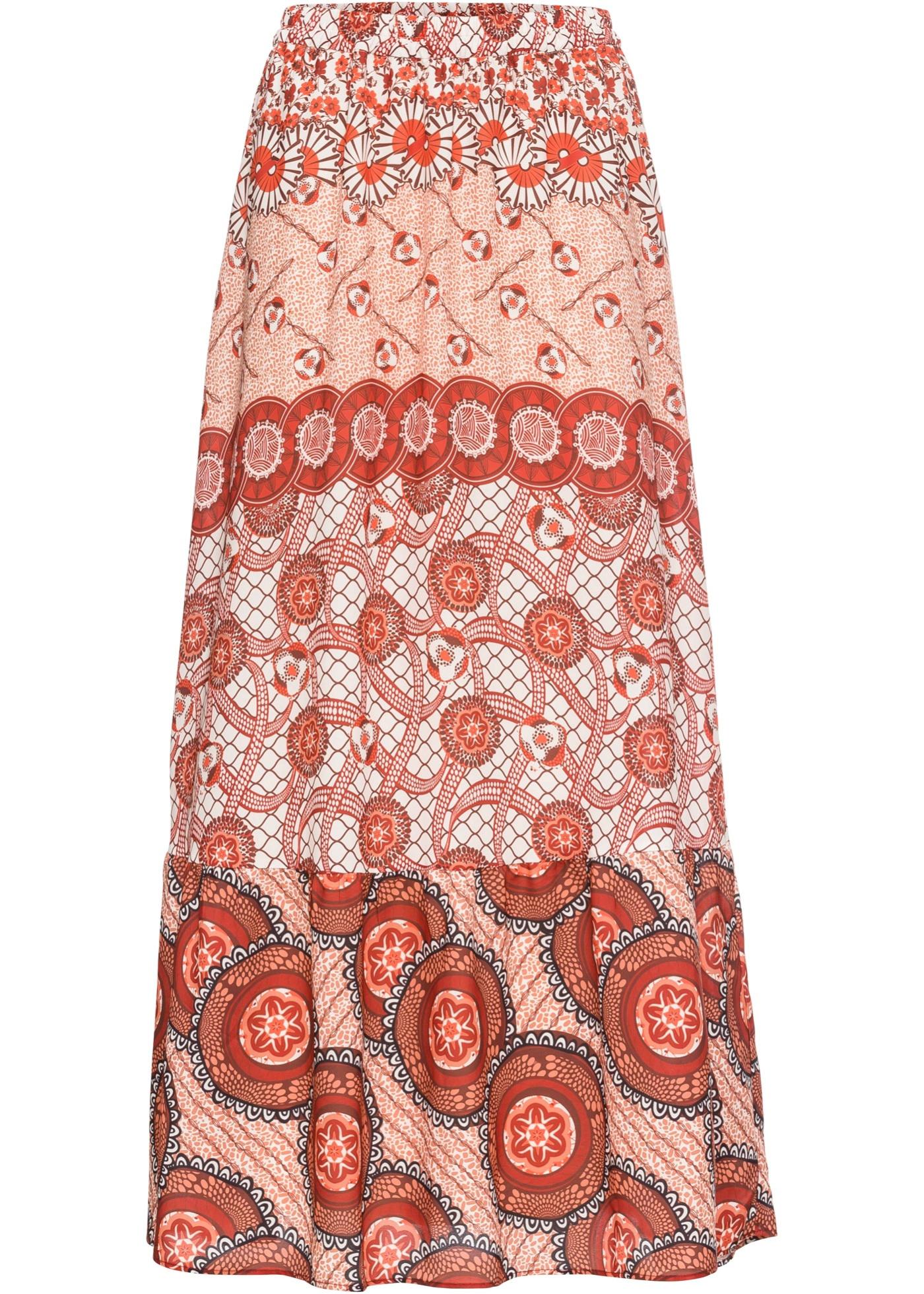Bedruckter Maxirock in rot für Damen von bonprix