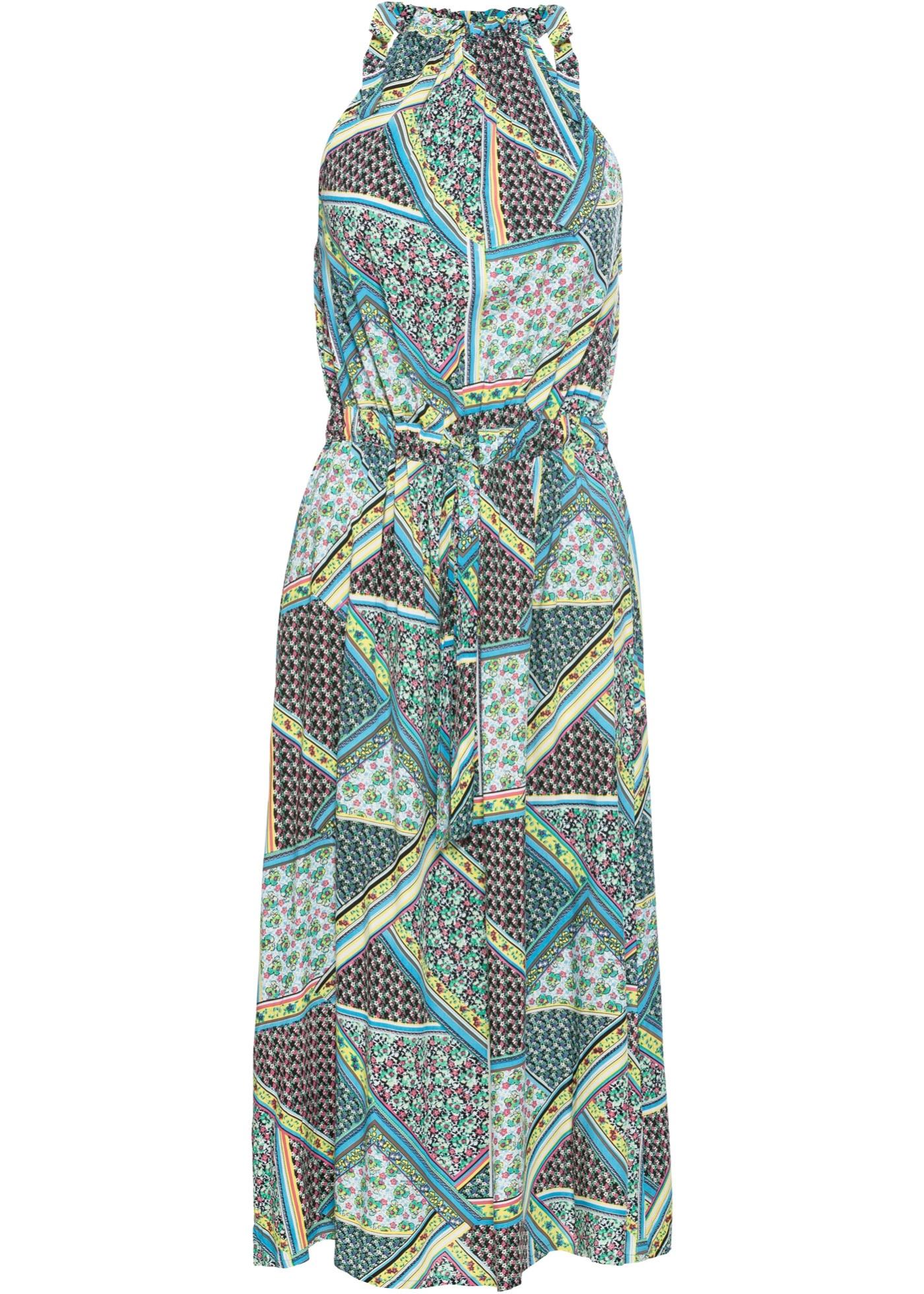 Neckholder-Kleid mit Bindebändern