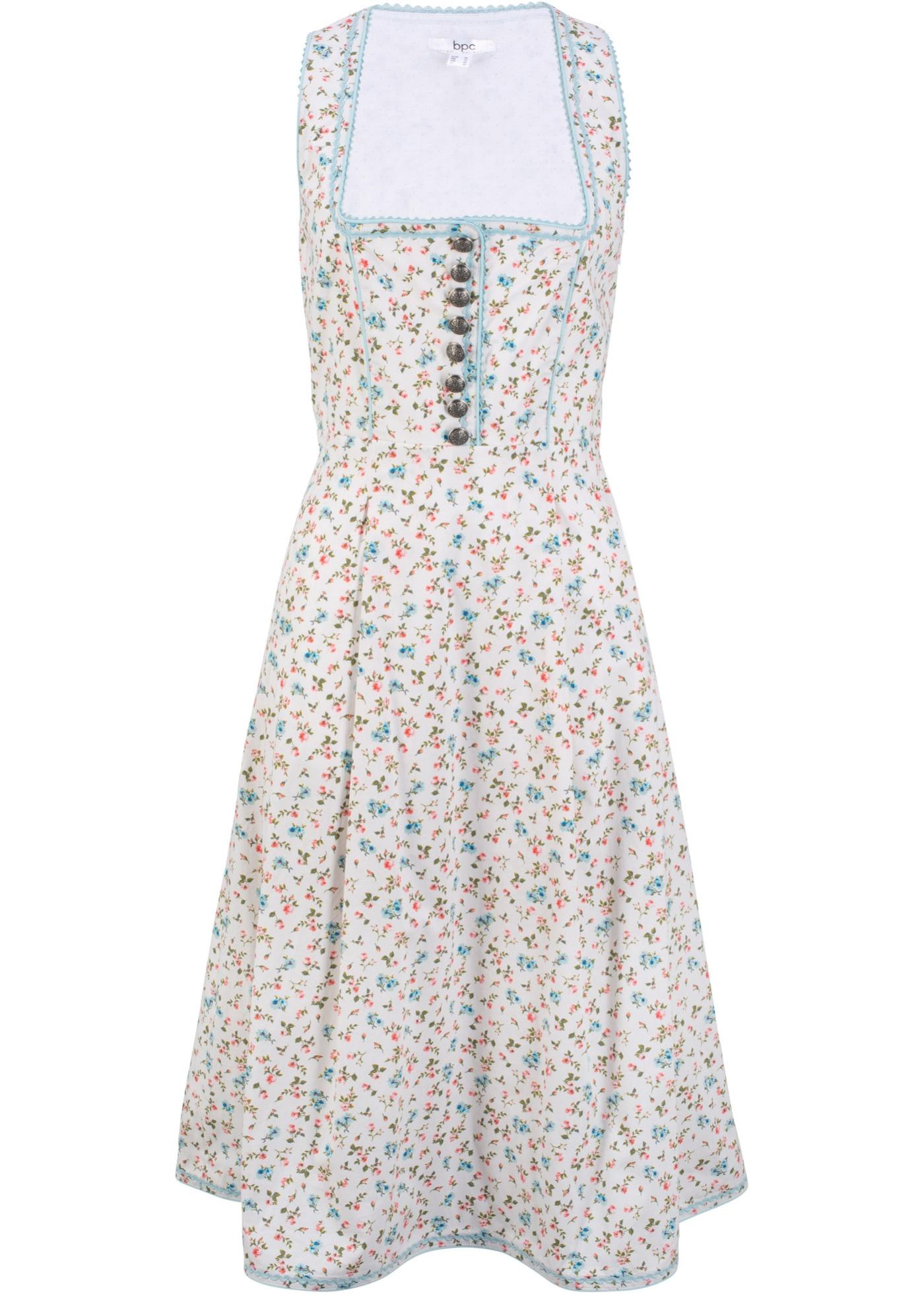 Dirndl -Kleid ohne Ärmel  in weiß für Damen von bonprix