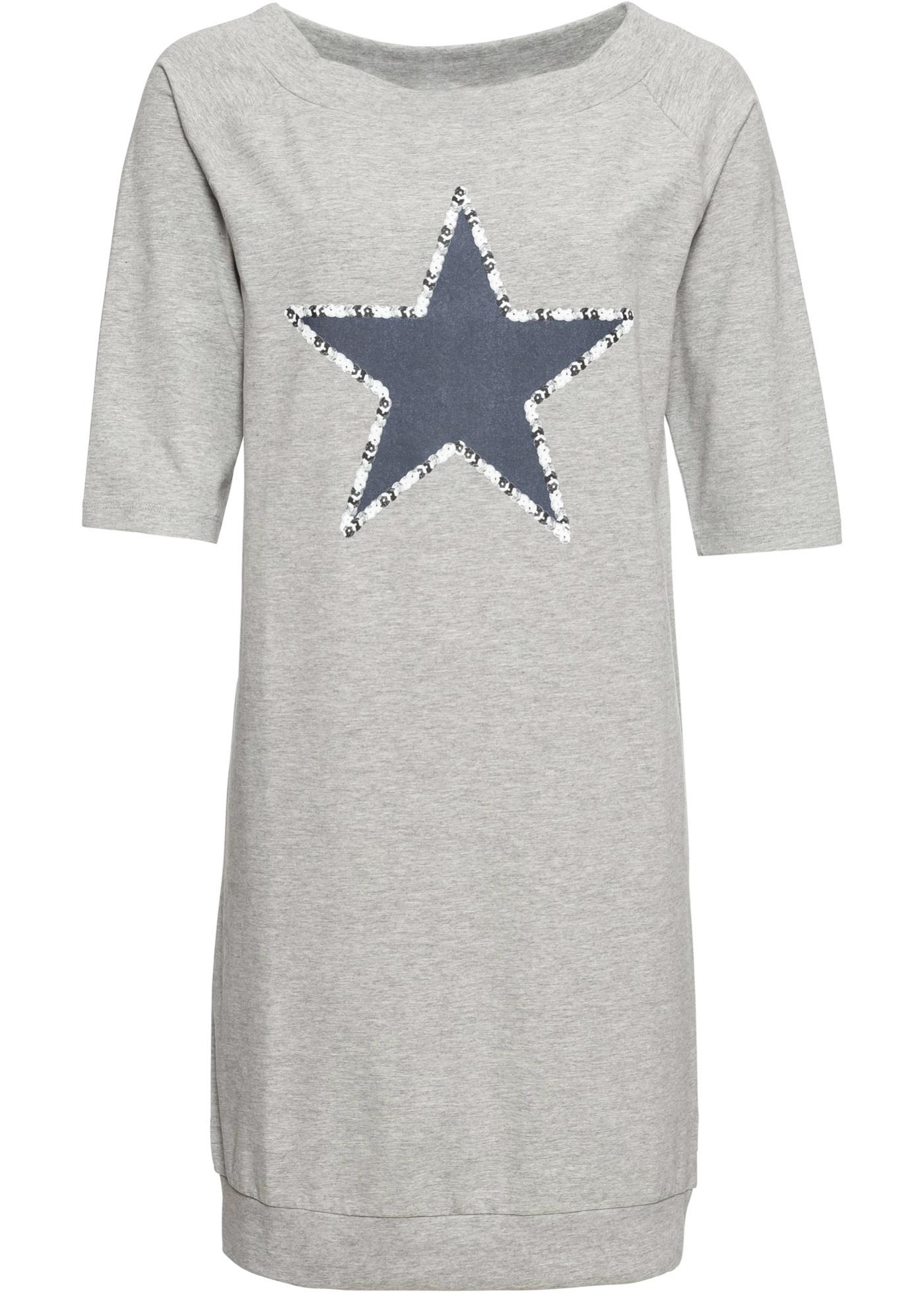 Shirtkleid mit Sternenprint