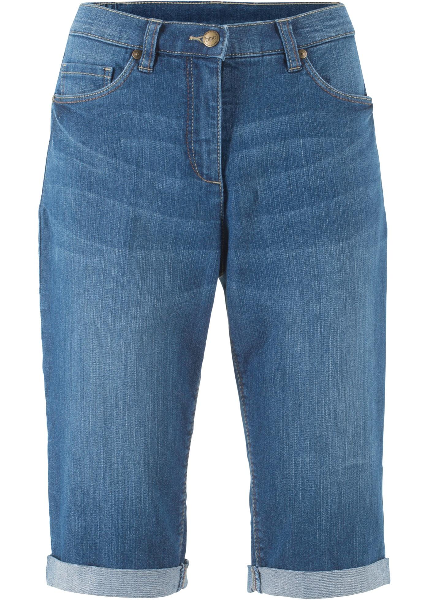 Stretch-Jeans-Bermuda mit Komfortbund