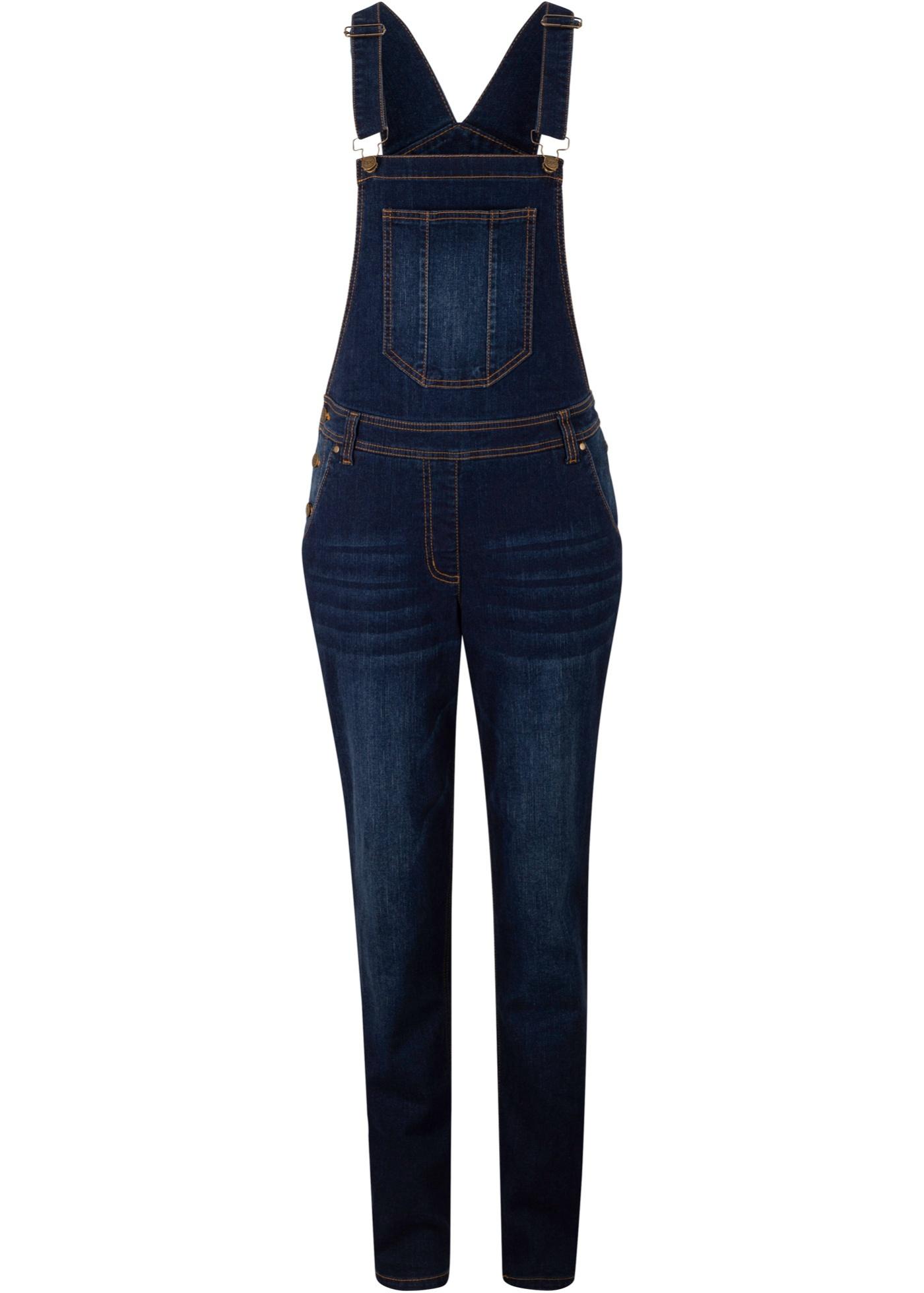 Hosen - Jeans Latzhose mit extra Weite › bonprix › schwarz  - Onlineshop Bonprix