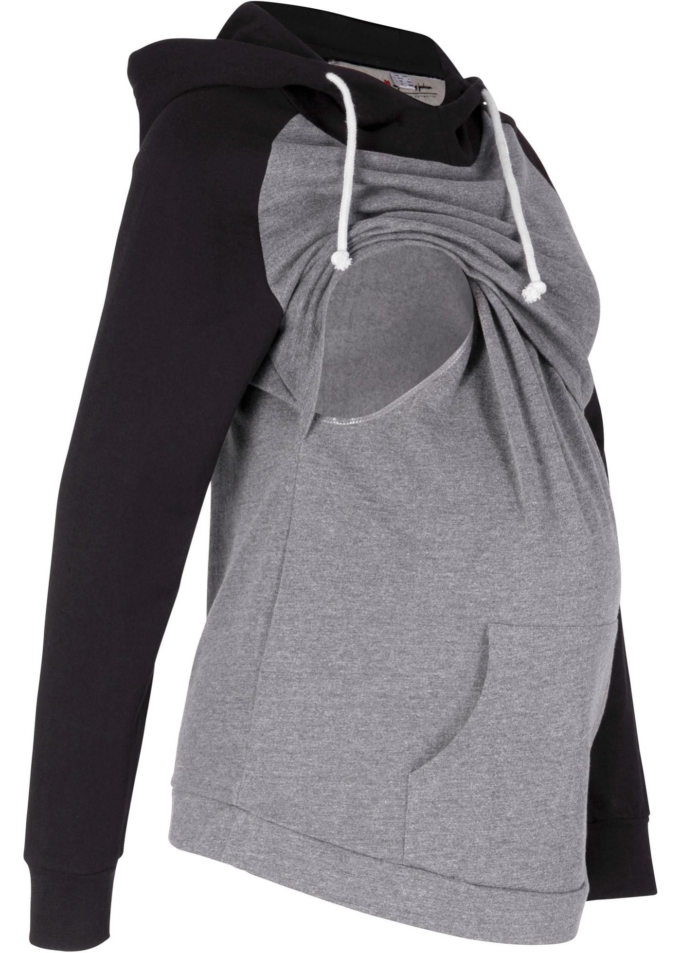 Schwangerschaftsmode - Sweat Umstandsshirt Sweat Stillshirt › bonprix › schwarz  - Onlineshop Bonprix
