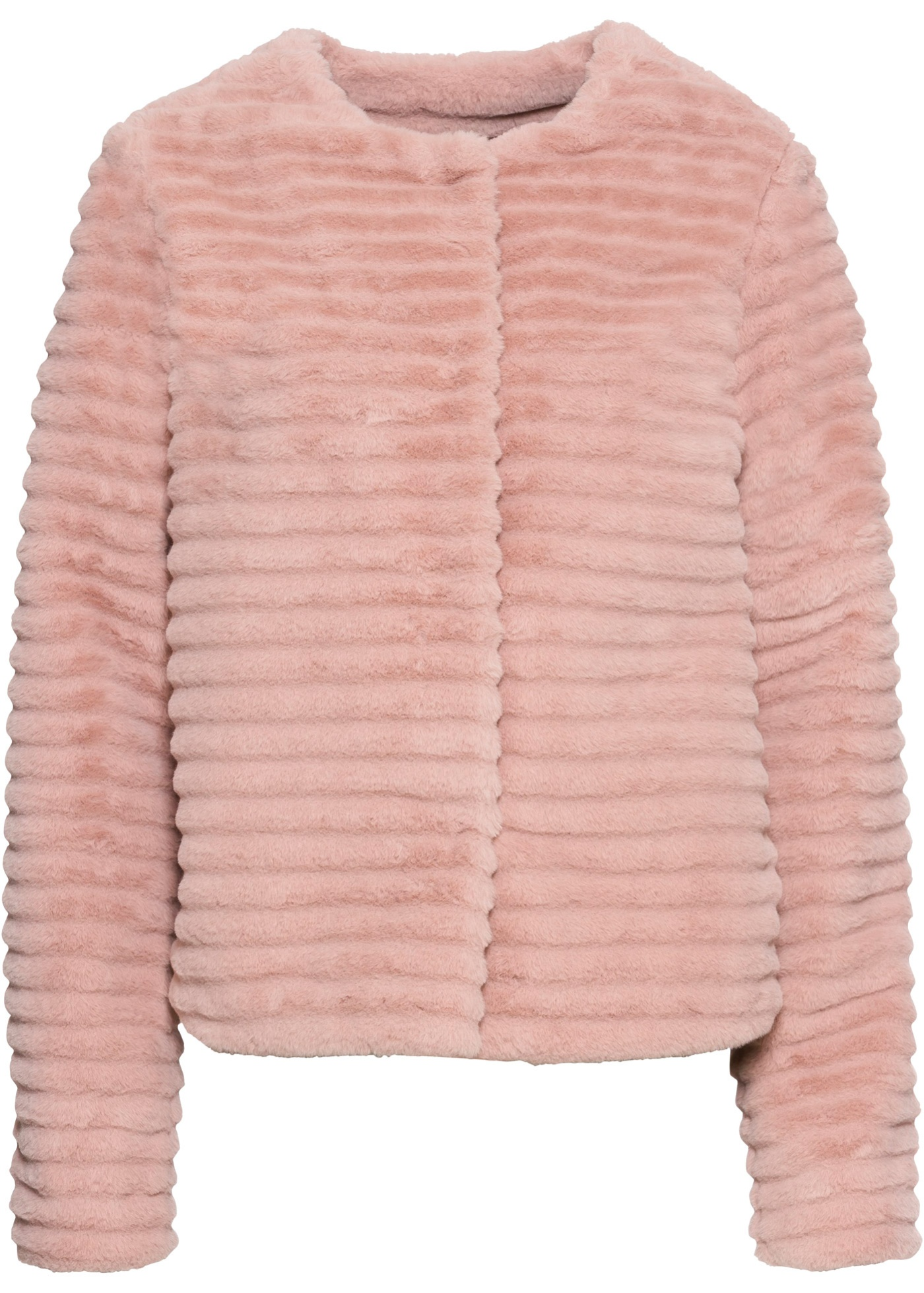 Fellimitat-Jacke langarm  in rosa für Damen von bonprix