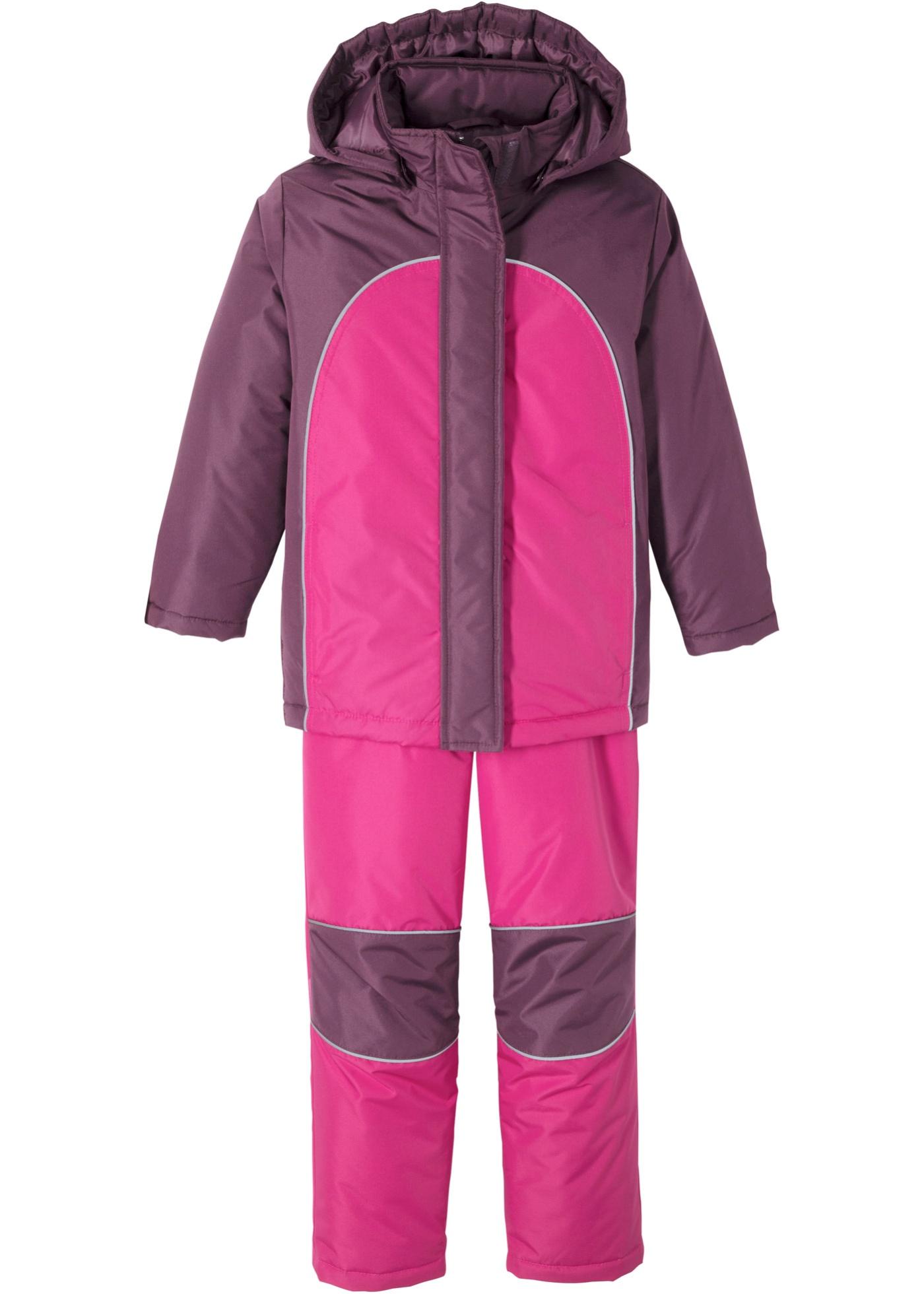 Mädchen Schneeanzug (2-tlg. Set) langarm  in lila für Babys von bonprix