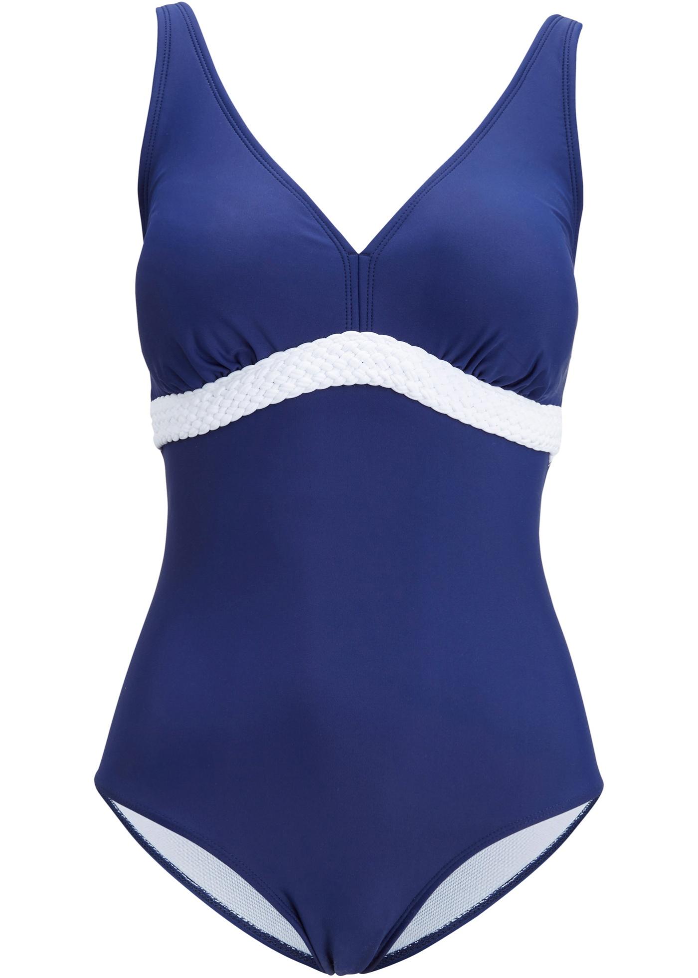 Shape Badeanzug Level 1 in blau für Damen von bonprix