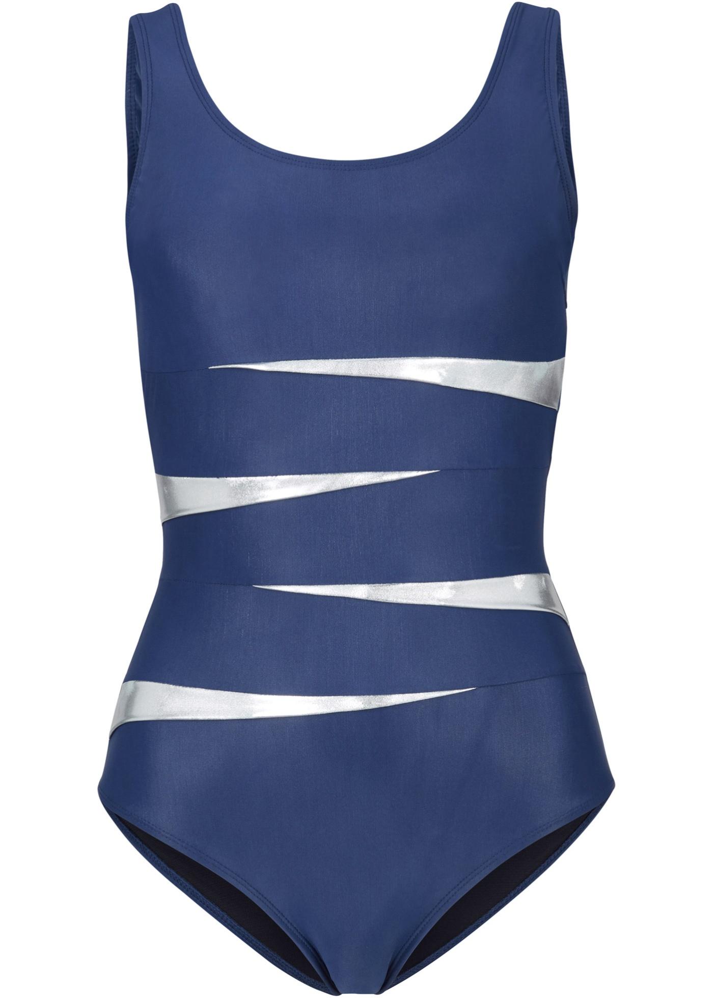 Shape Badeanzug Level 3 in blau für Damen von bonprix