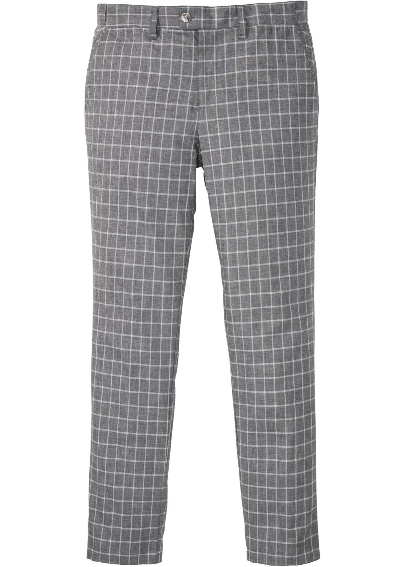 Chinohose mit Komfortbund, Regular Fit in grau für Herren von bonprix