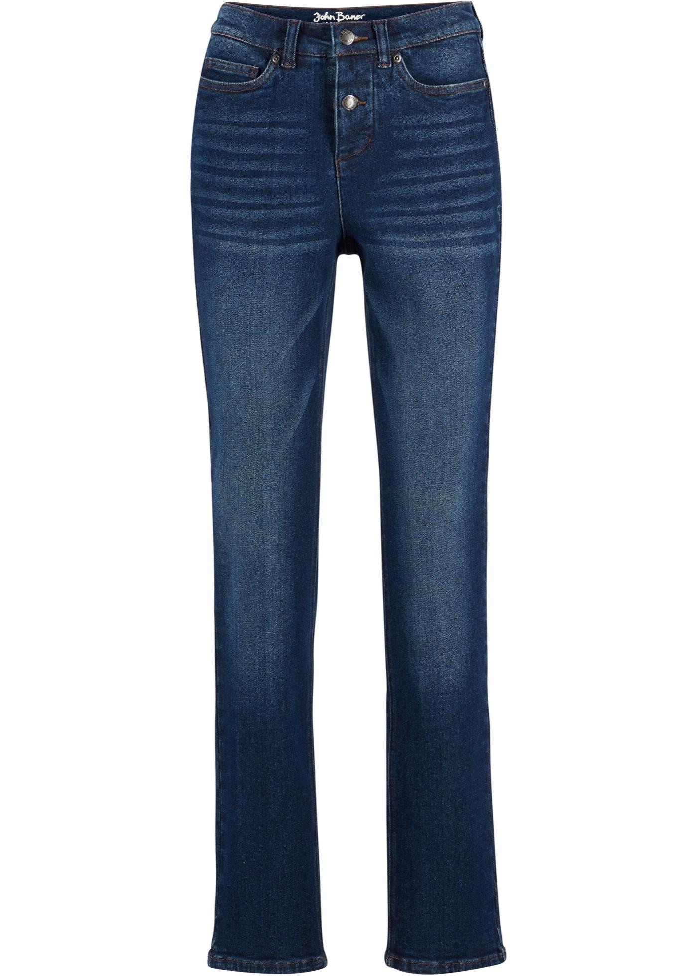 Stretch-Jeans in klassischem Denim, STRAIGHT in blau für Damen von bonprix