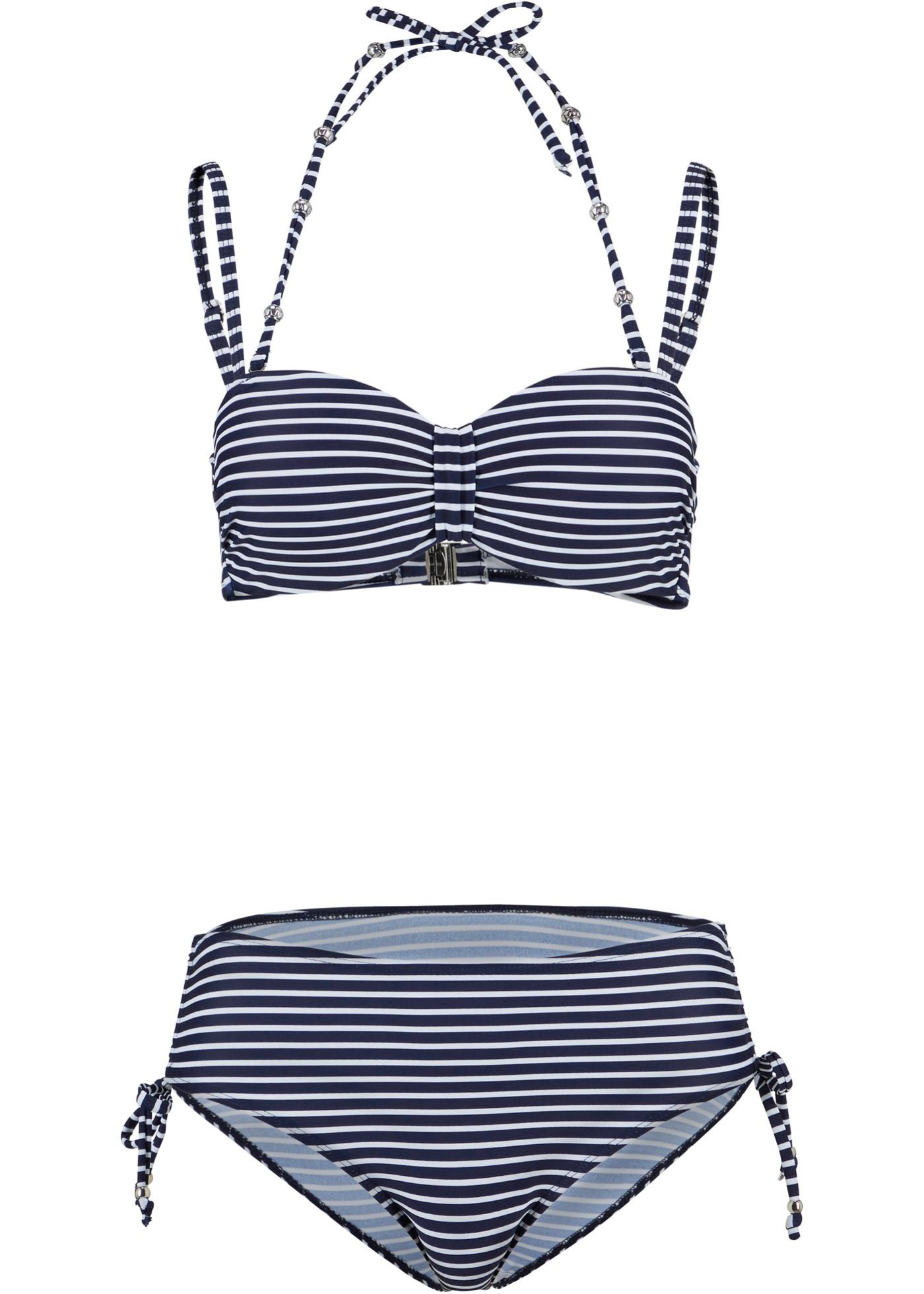 Bademode - Bügel Bikini (2 tlg. Set) › bonprix › blau  - Onlineshop Bonprix