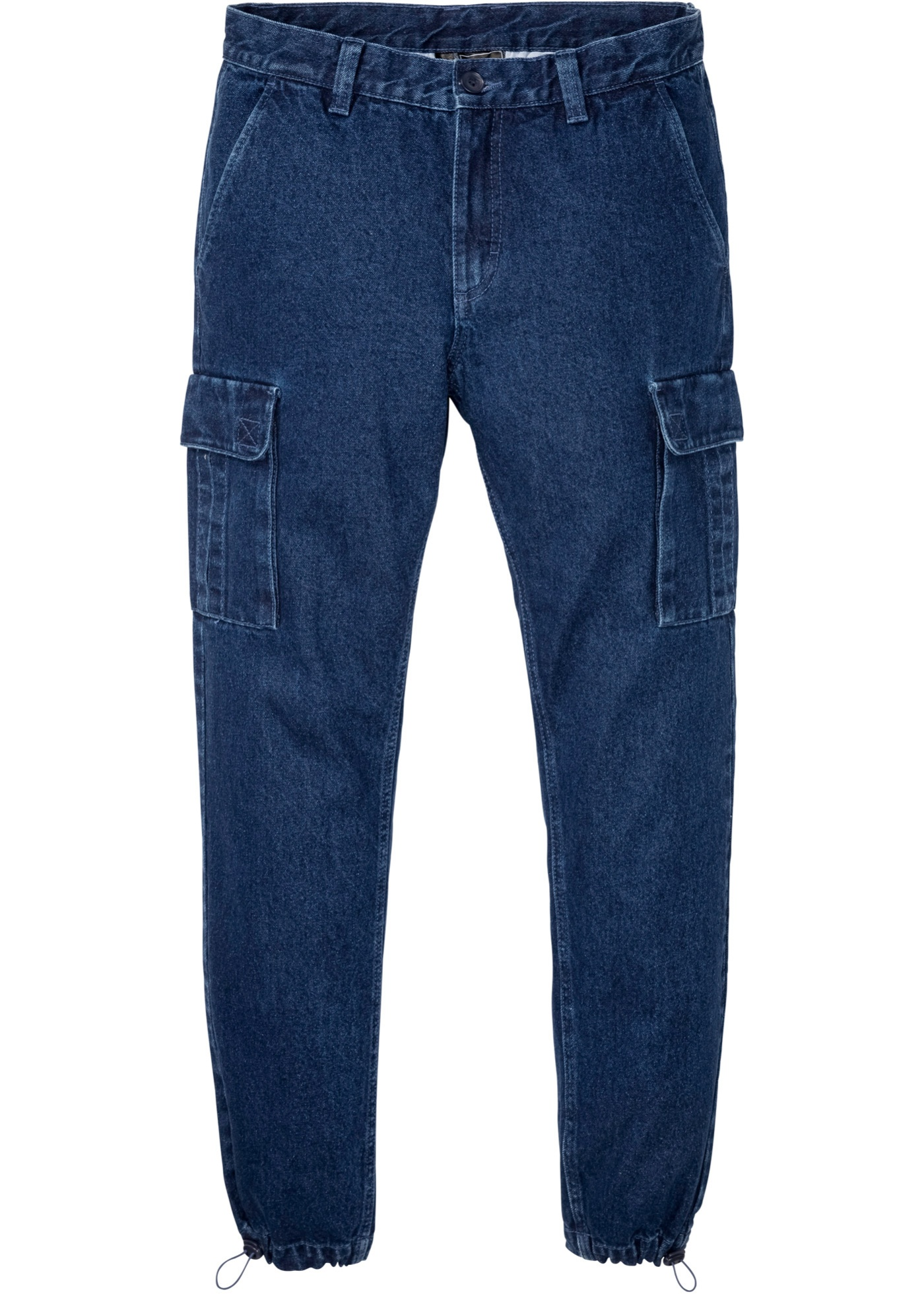 Regular Fit Cargo-Jeans, Straight in blau für Herren von bonprix