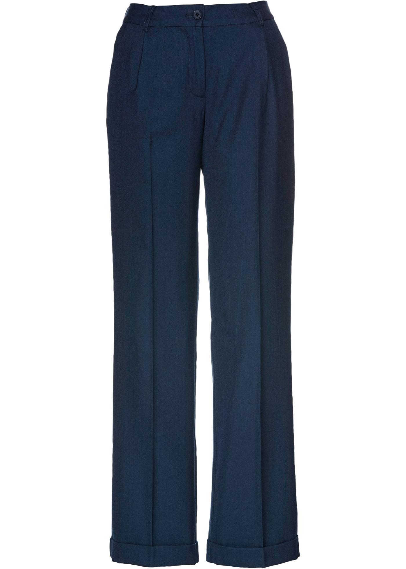 Marlenehose im Wollmix in blau für Damen von bonprix