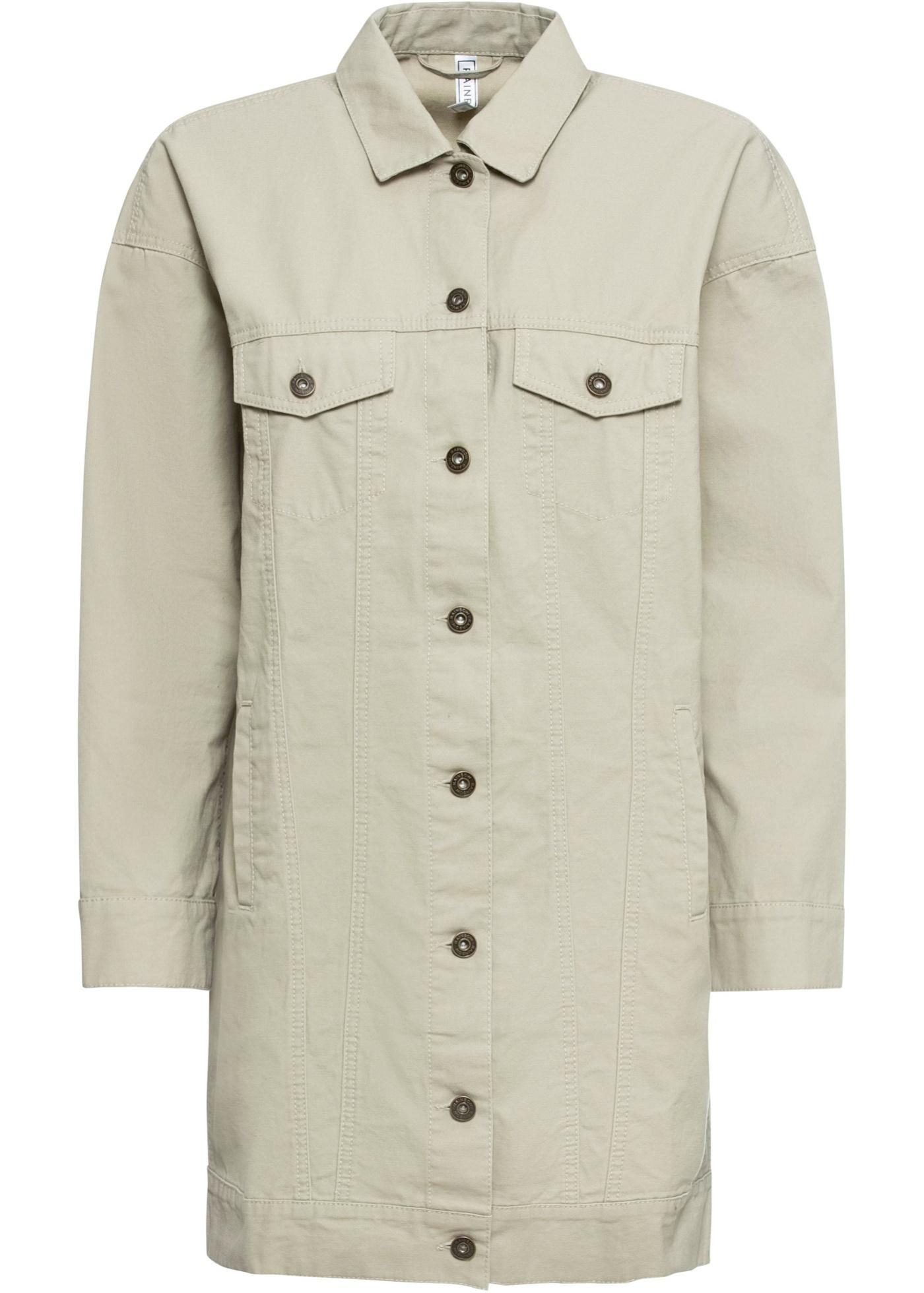 Jacke langarm  in beige (Rundhals) für Damen von bonprix