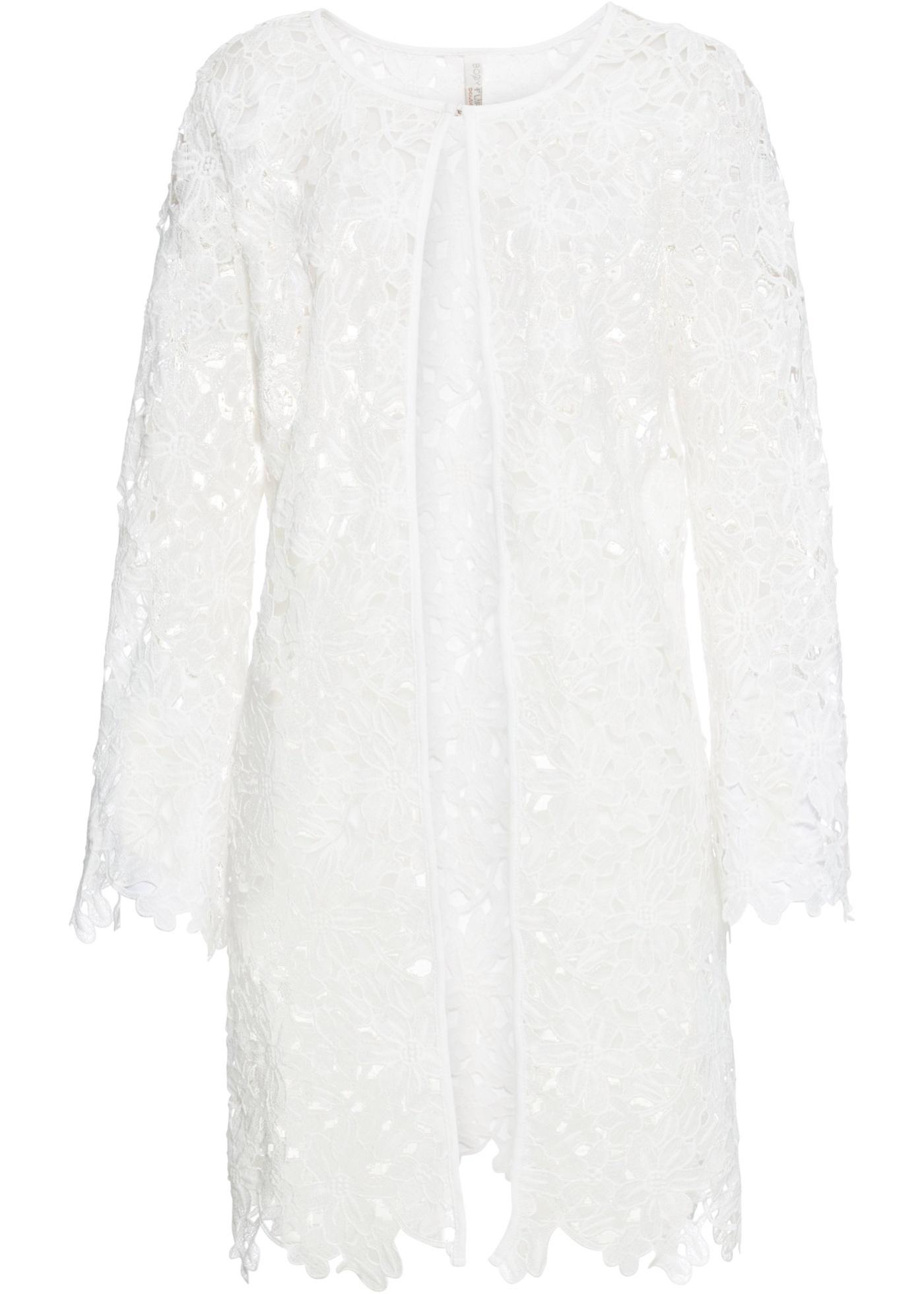Spitzenjacke 7/8 Arm  in weiß für Damen von bonprix