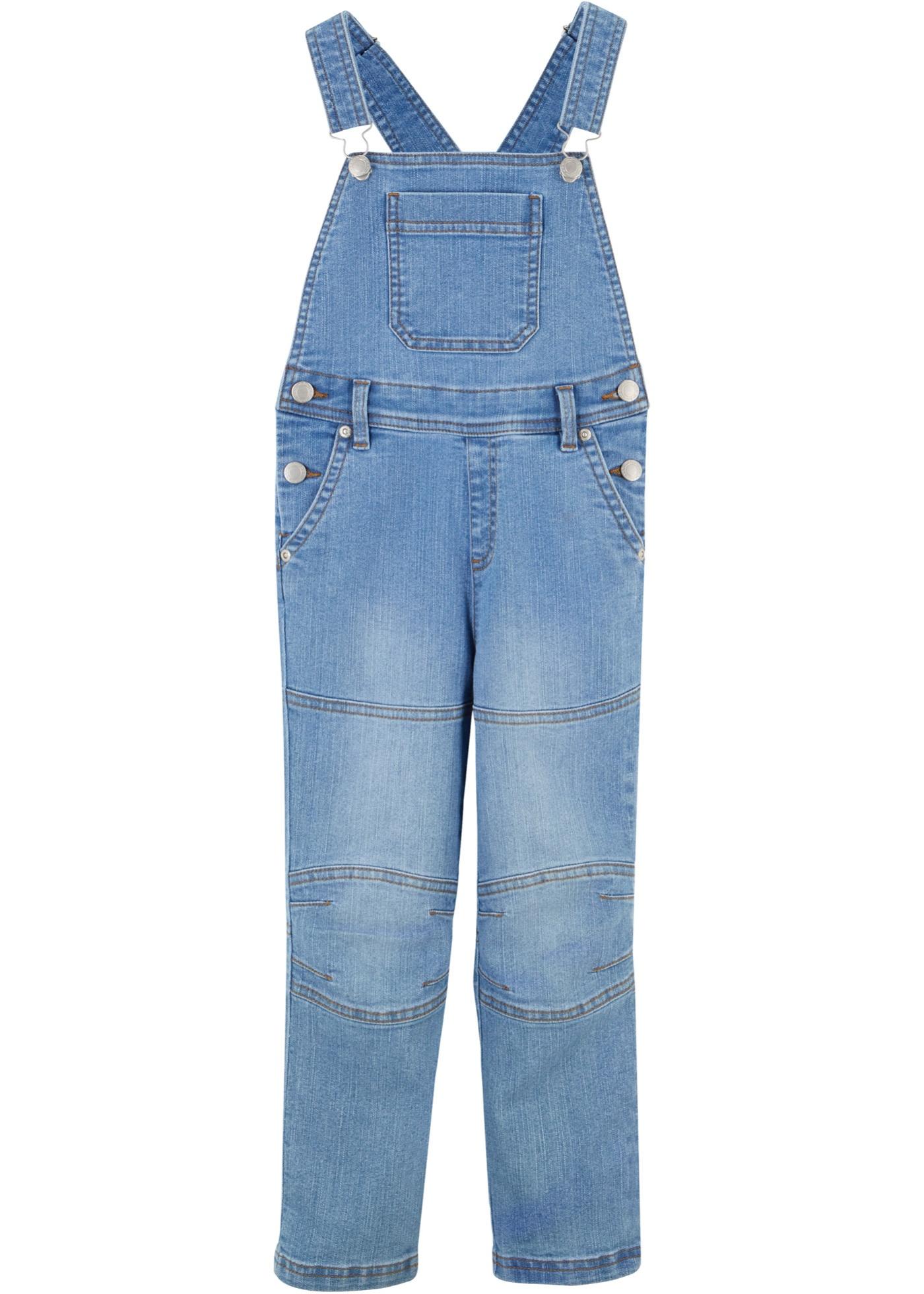 Jungen Jeans-Latzhose in blau für Jungen von bonprix