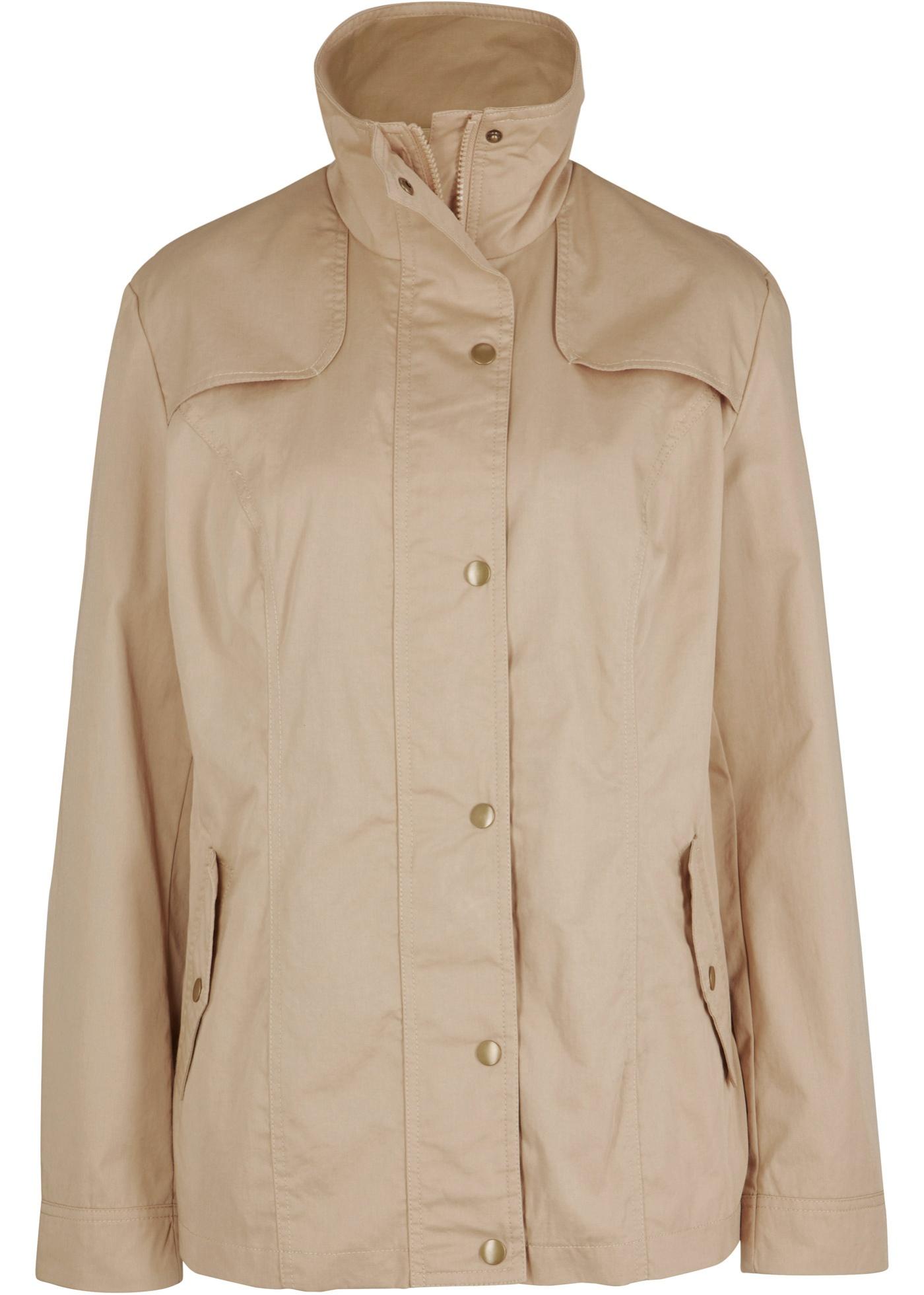 Jacke mit Stehkragen langarm  in beige für Damen von bonprix