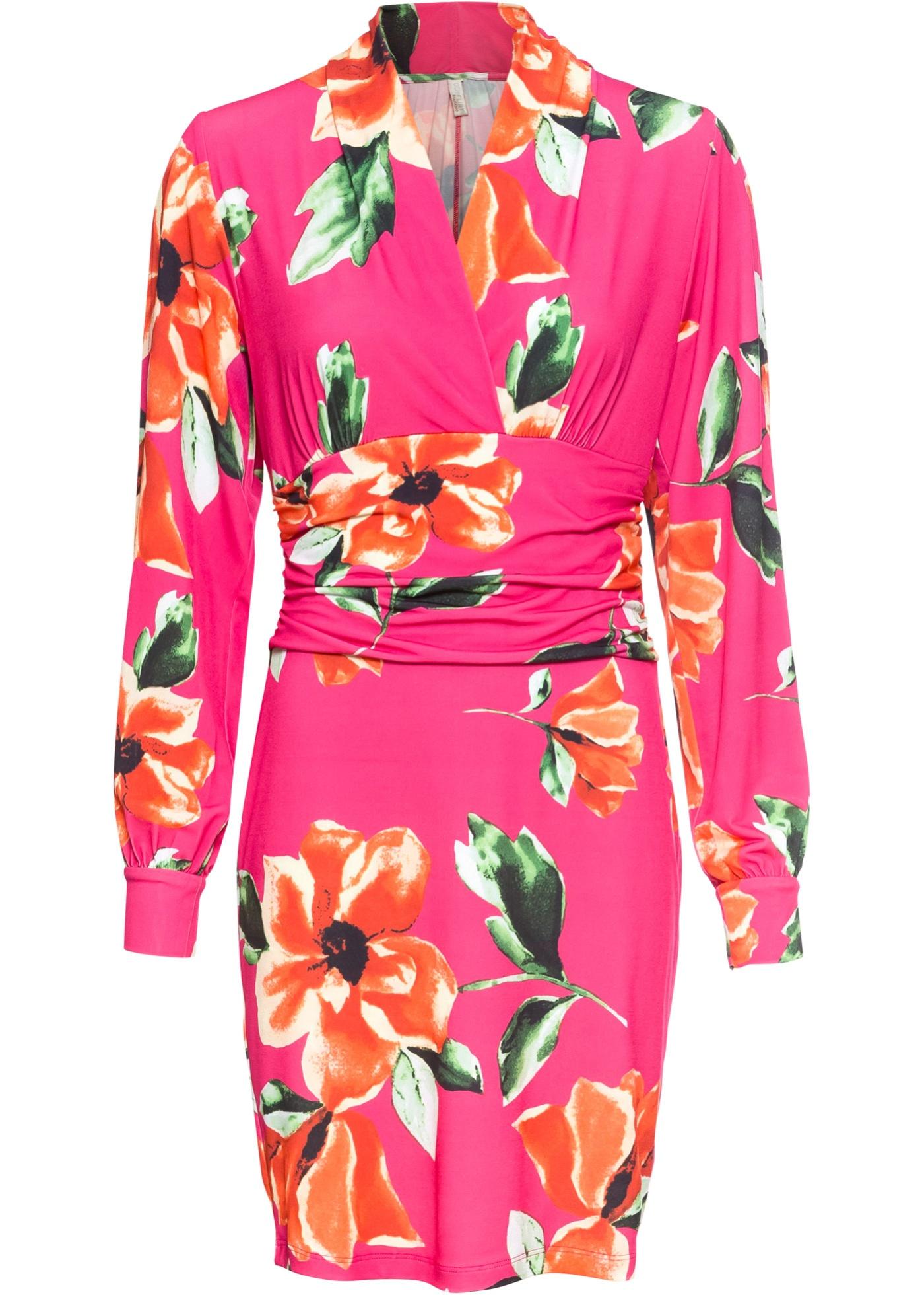 Sommerkleid langarm  in pink für Damen von bonprix